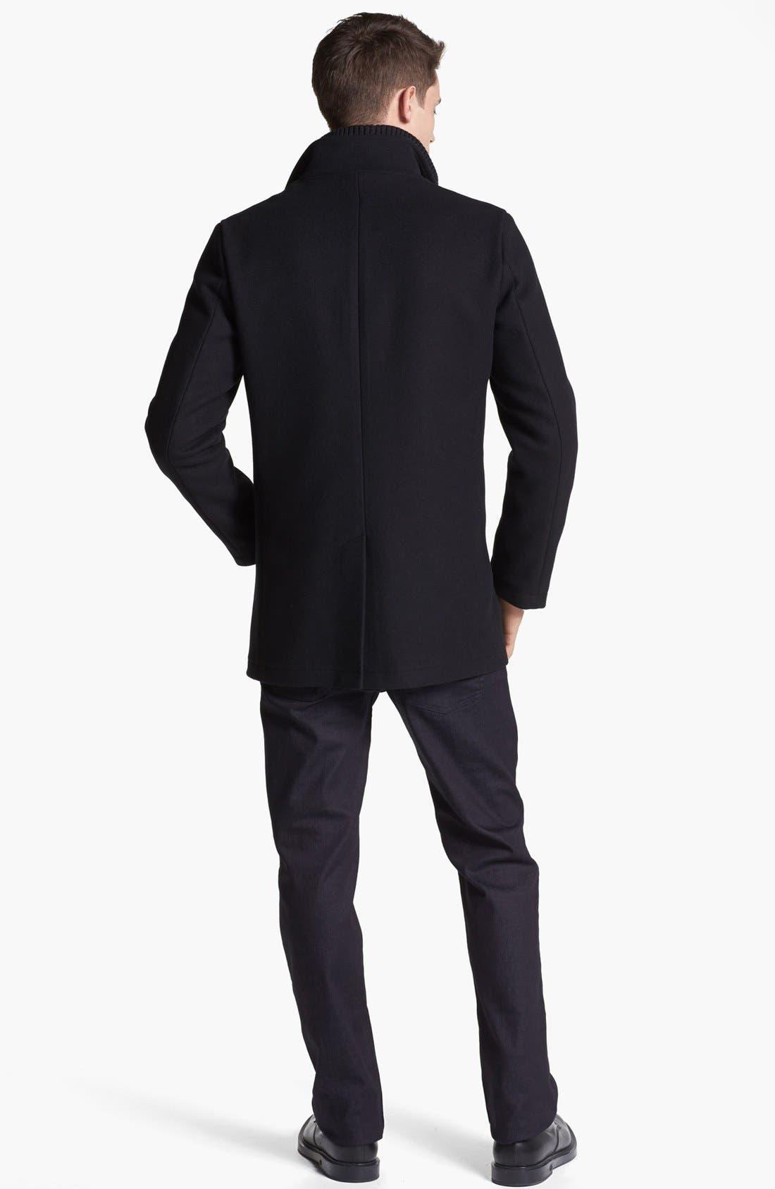 Alternate Image 5  - Armani Collezioni Wool Blend Winter Jacket
