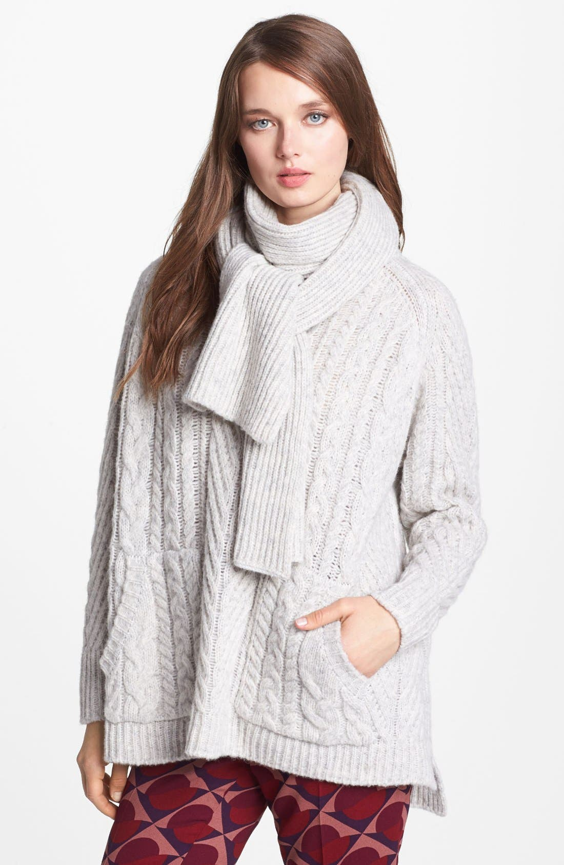 Main Image - MARC BY MARC JACOBS 'Connolly' Crew Neck Sweater with Scarf