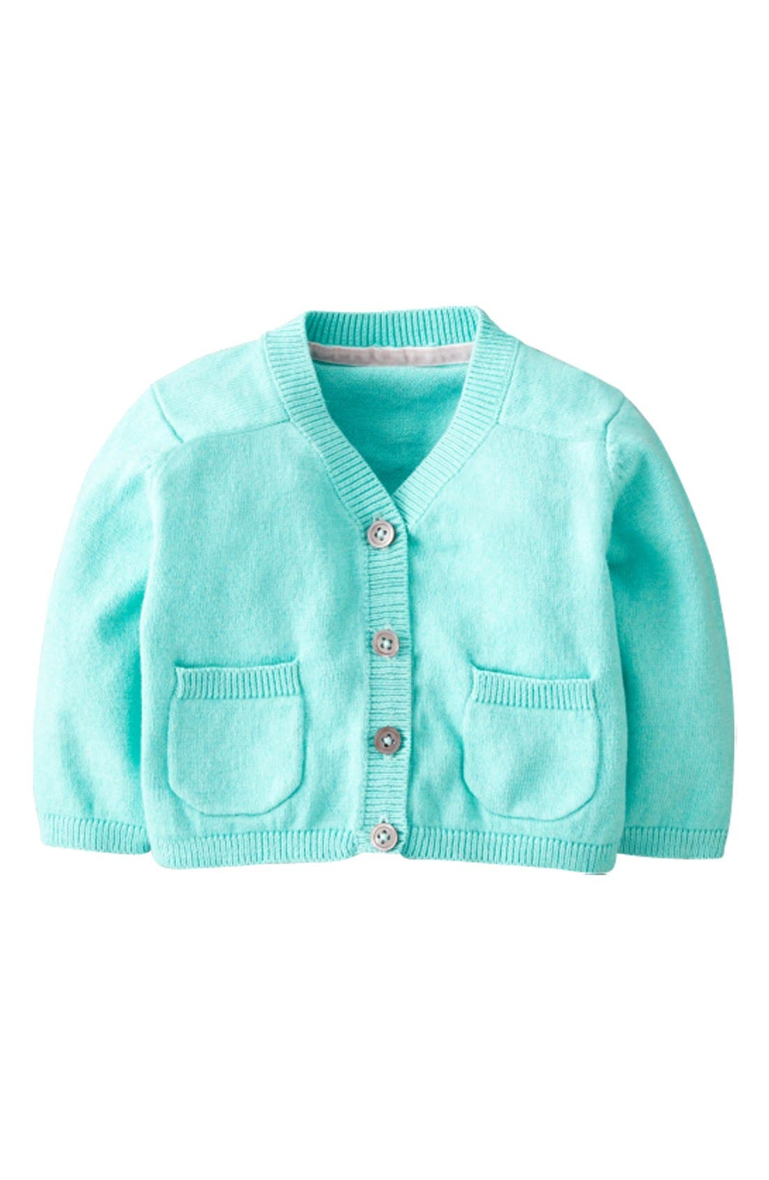 Alternate Image 1 Selected - Mini Boden 'Favorite' Cardigan (Baby Girls)