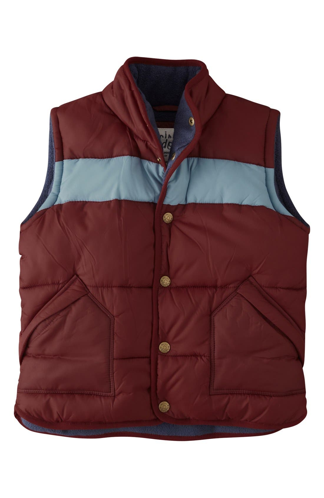 Alternate Image 1 Selected - Mini Boden Channel Quilted Vest (Little Boys & Big Boys)