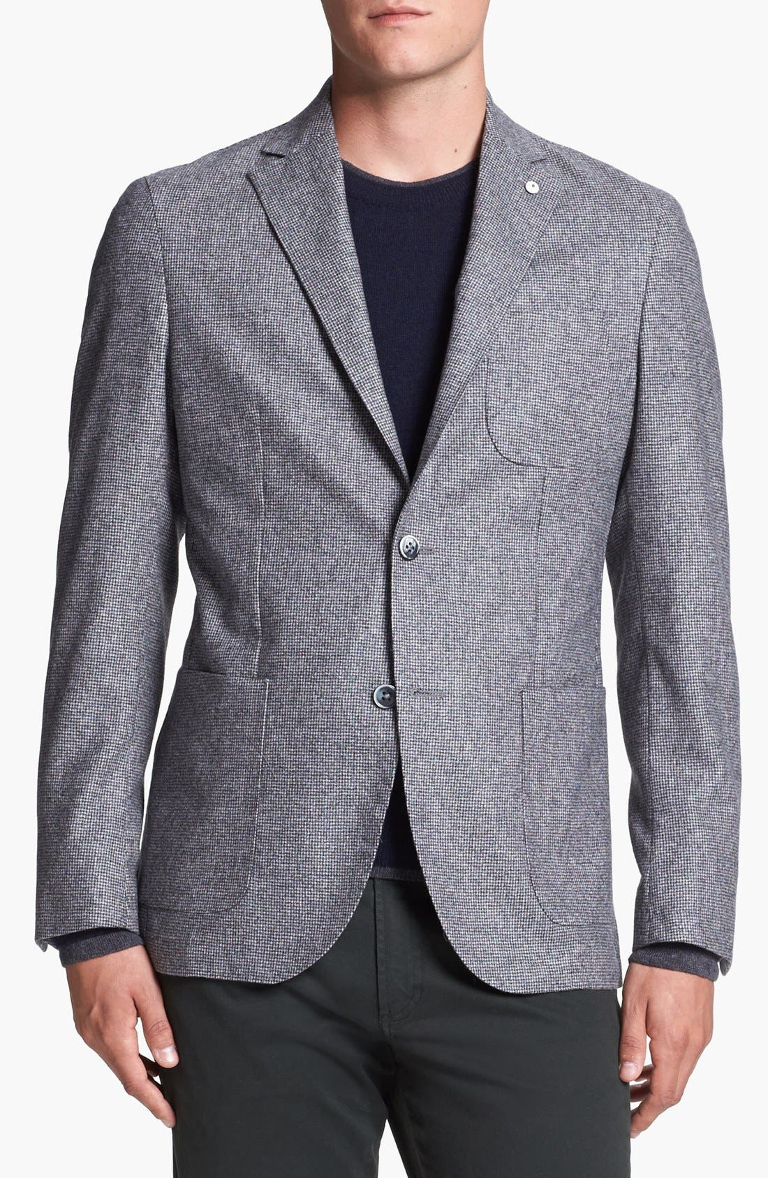 Main Image - Lubian Houndstooth Flannel Wool Sportcoat