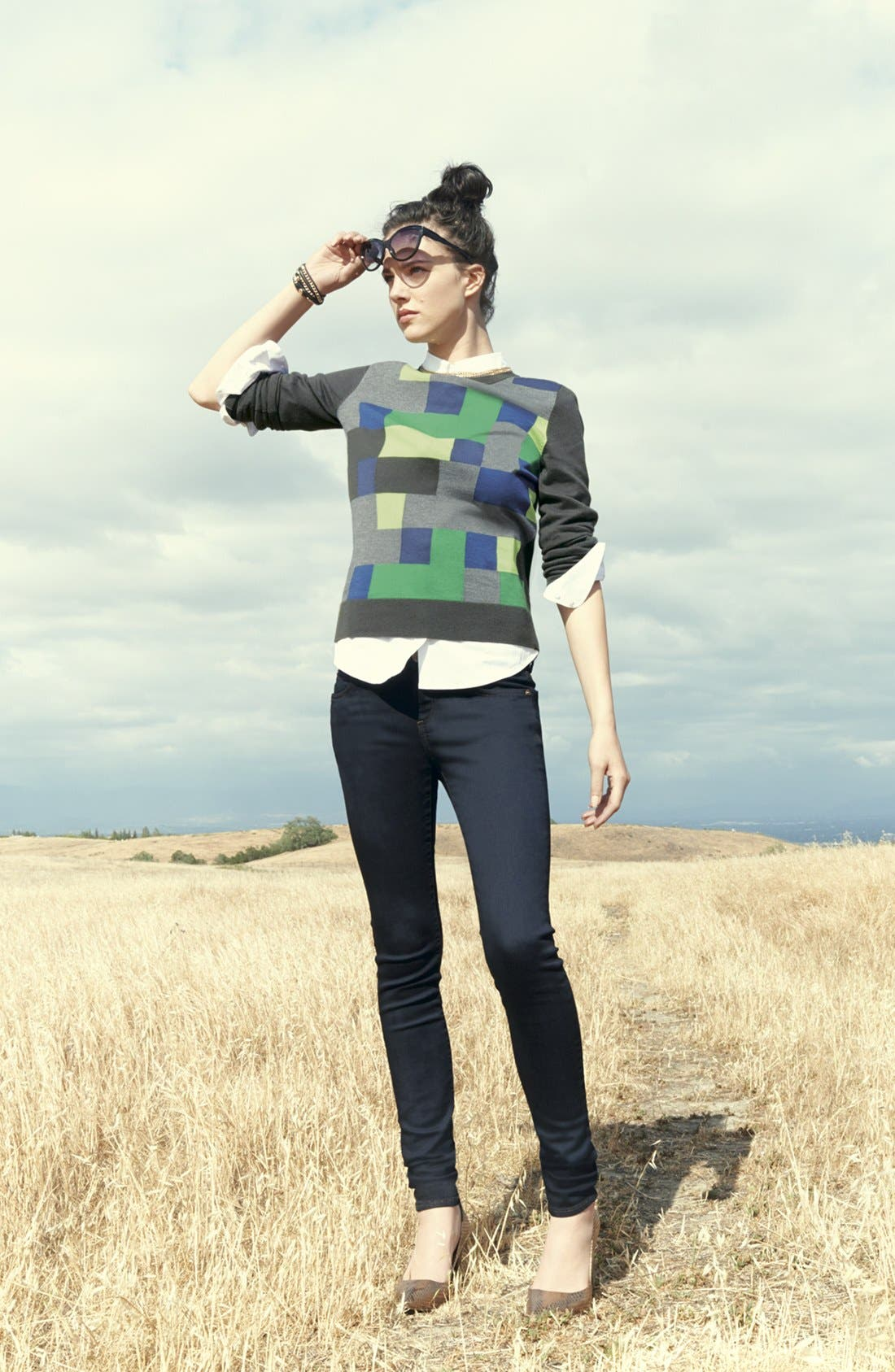 Alternate Image 6  - Halogen® 'Ava' Intarsia Sweater