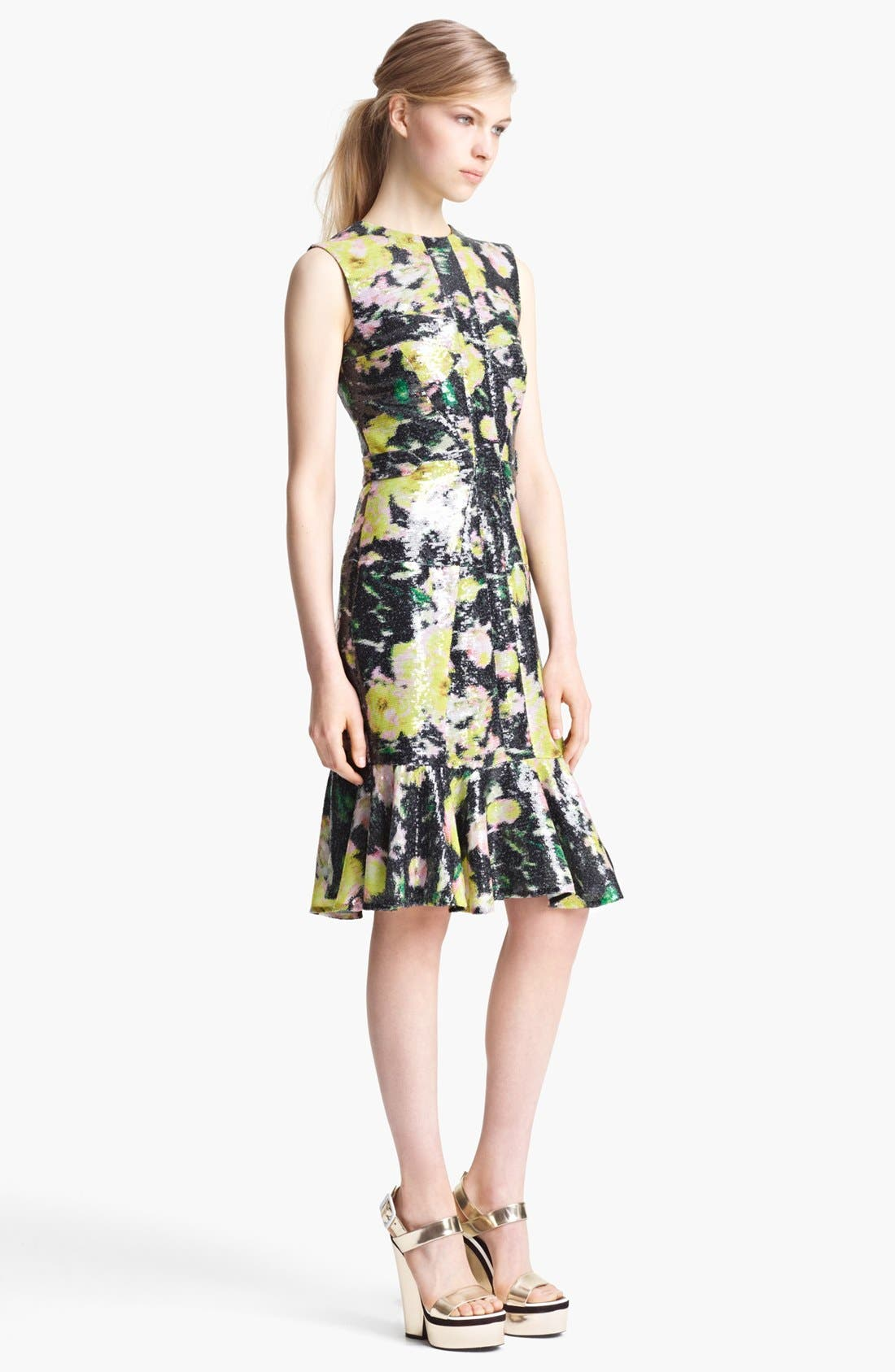 Alternate Image 1 Selected - Erdem 'Kelis' Sequin Rose Print Dress