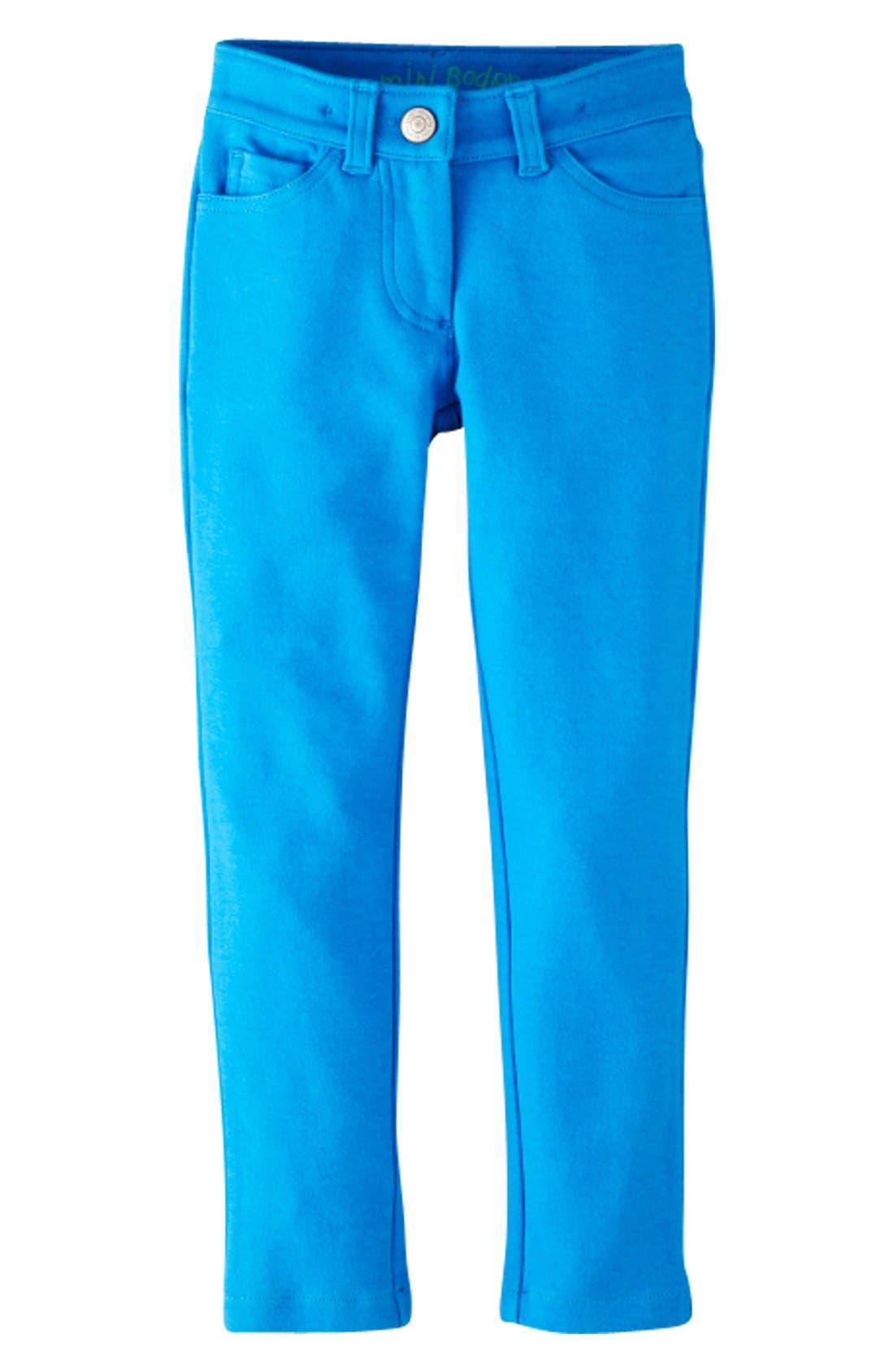 Alternate Image 1 Selected - Mini Boden Jersey Knit Jeans (Toddler Girls, Little Girls & Big Girls)