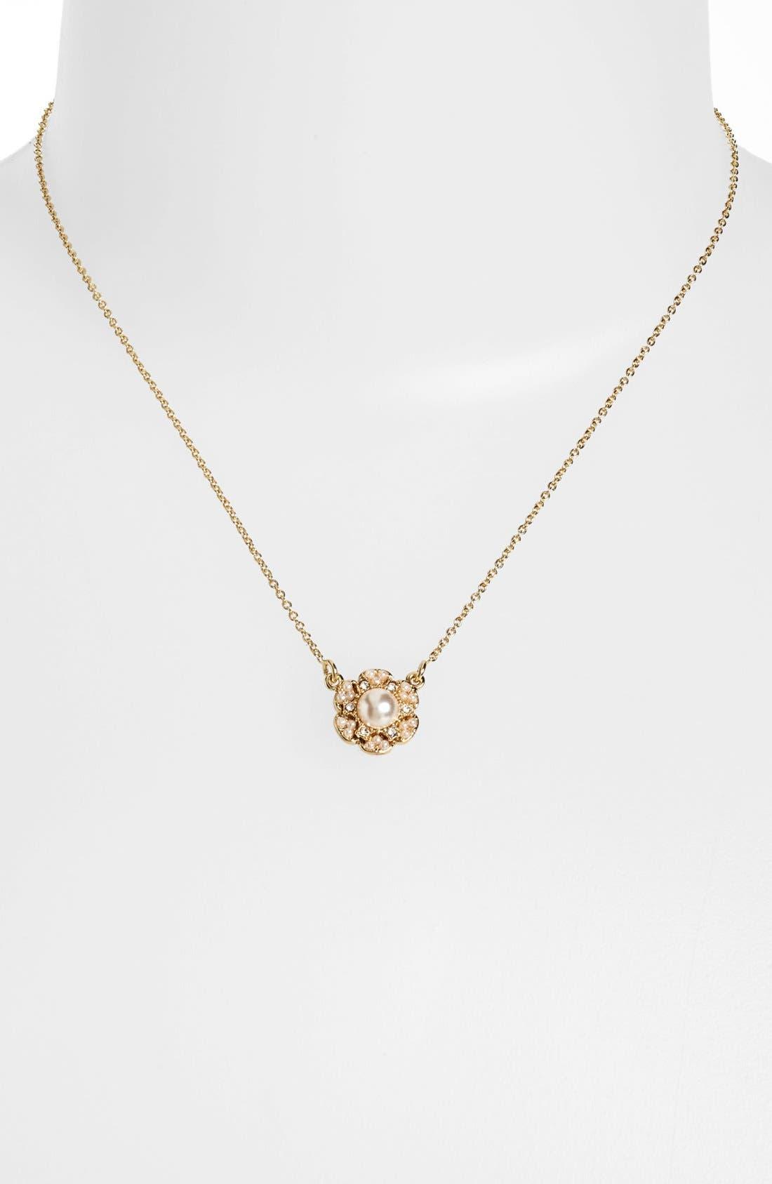 Alternate Image 1 Selected - kate spade new york 'park floral' pendant necklace
