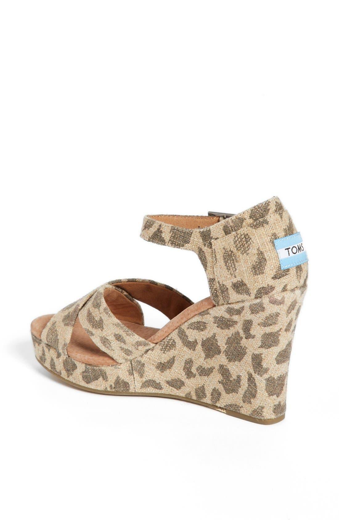 Alternate Image 2  - TOMS 'Leopard' Wedge Sandal