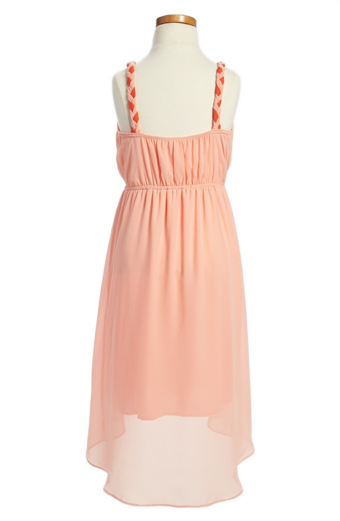 Alternate Image 2  - Soprano Colorblock High/Low Dress (Big Girls)