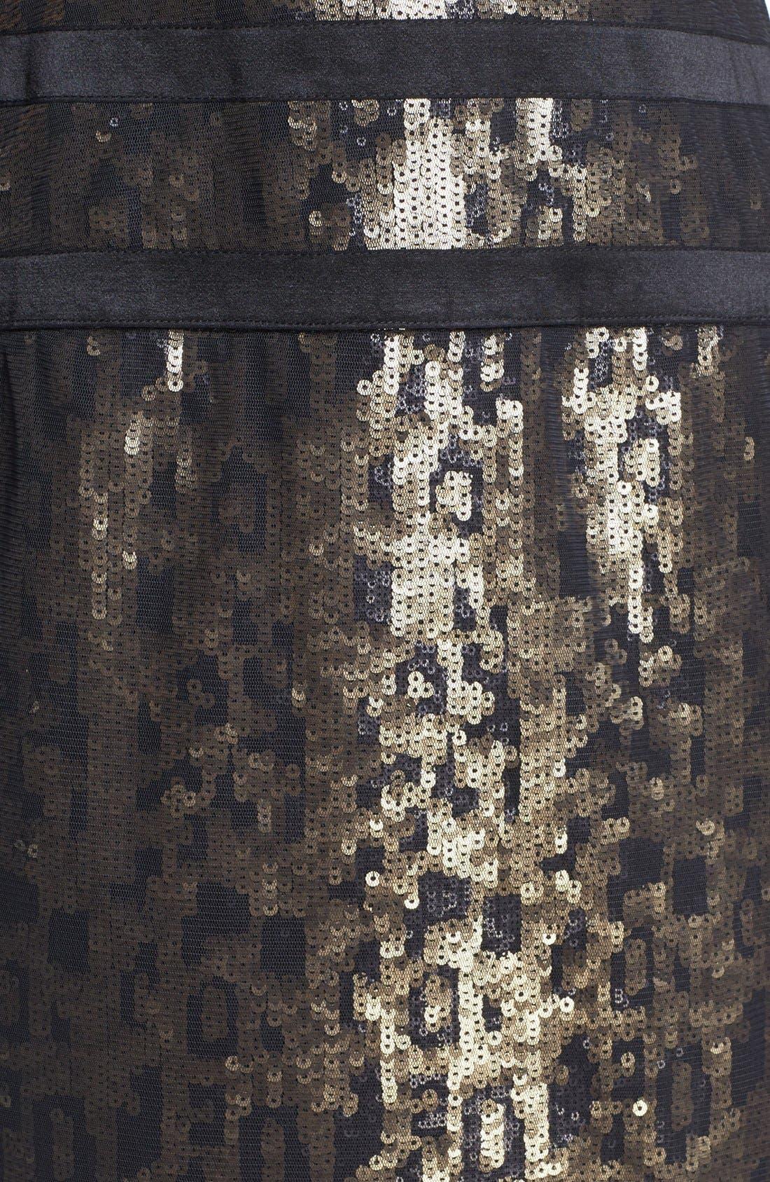 Alternate Image 3  - Tadashi Shoji Illusion Sequin Sheath Dress