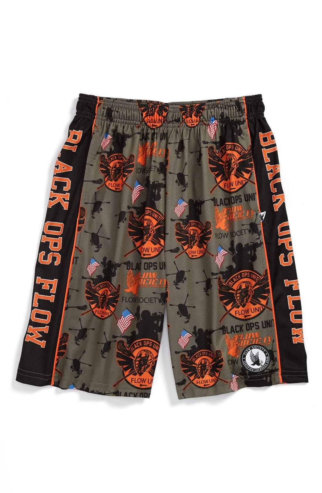 Alternate Image 1 Selected - Flow Society 'Black Ops Flow' Lacrosse Shorts (Little Boys & Big Boys)