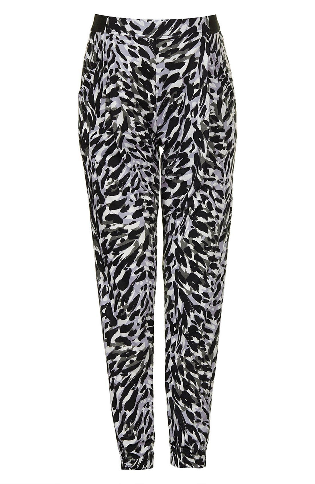 Alternate Image 1 Selected - Topshop 'Contrast Cat' Tapered Maternity Trousers