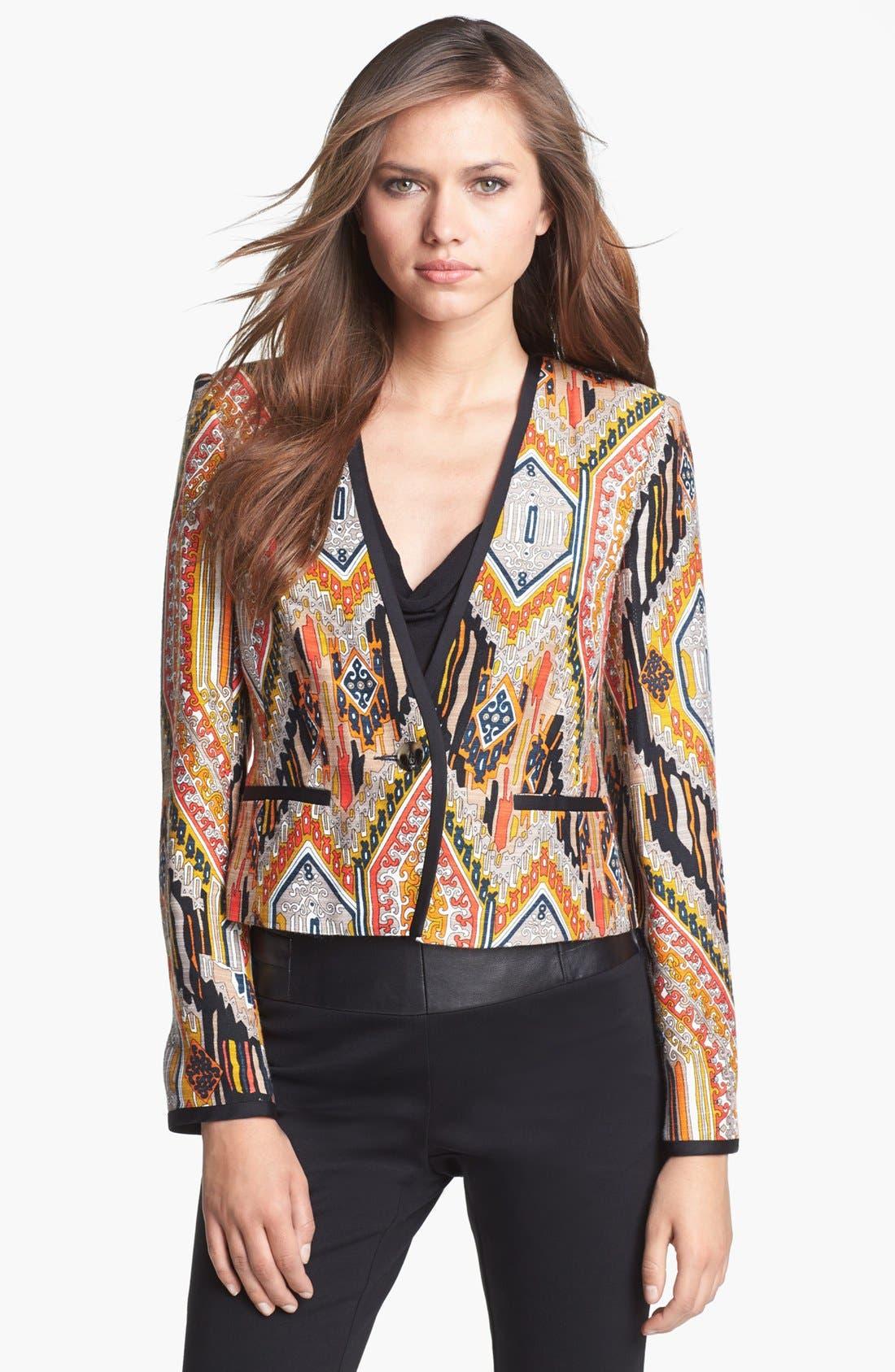 Alternate Image 1 Selected - Trina Turk 'Moderna' Crop Jacket