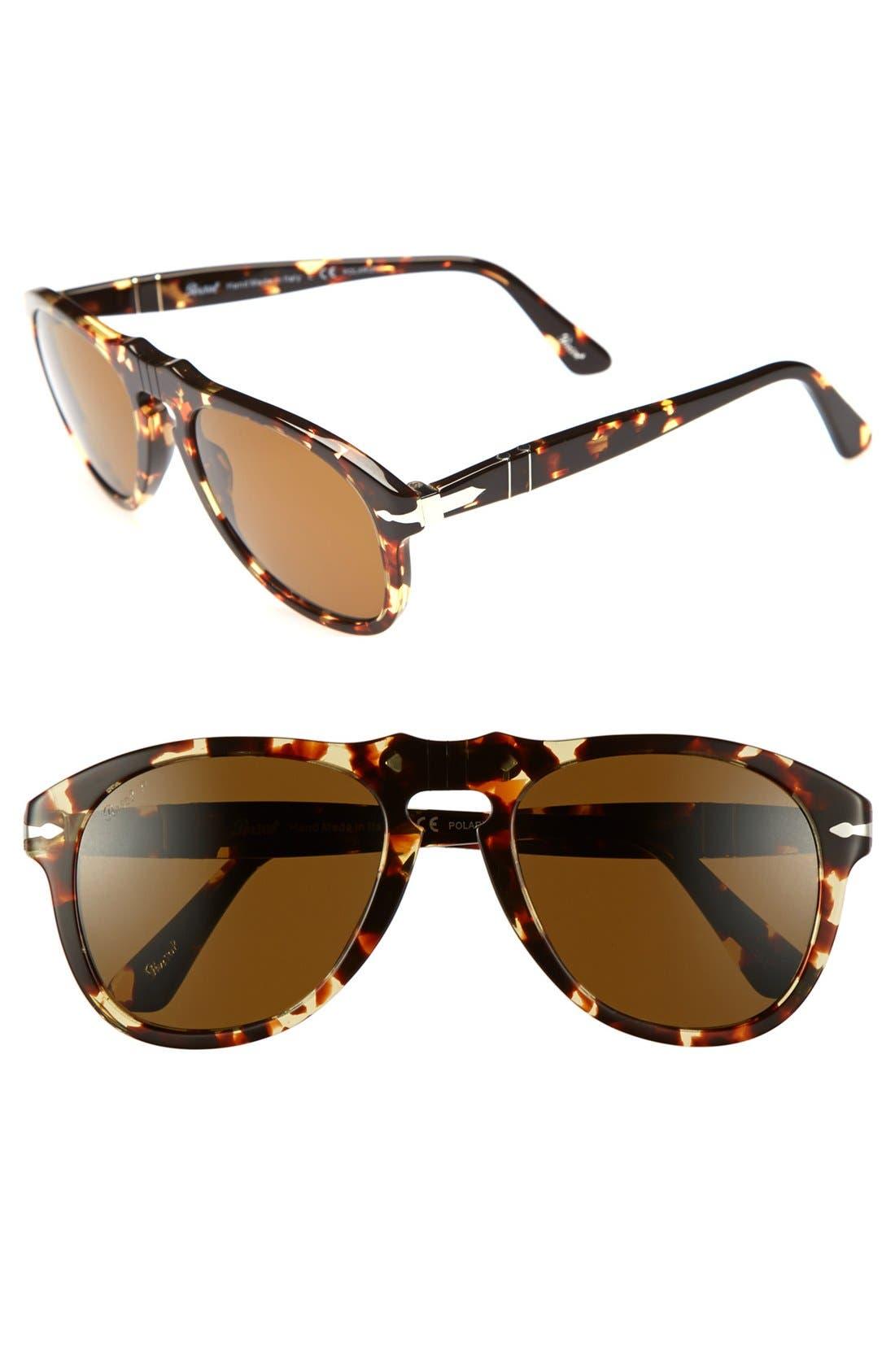Main Image - Persol 51mm Retro Keyhole Polarized Sunglasses