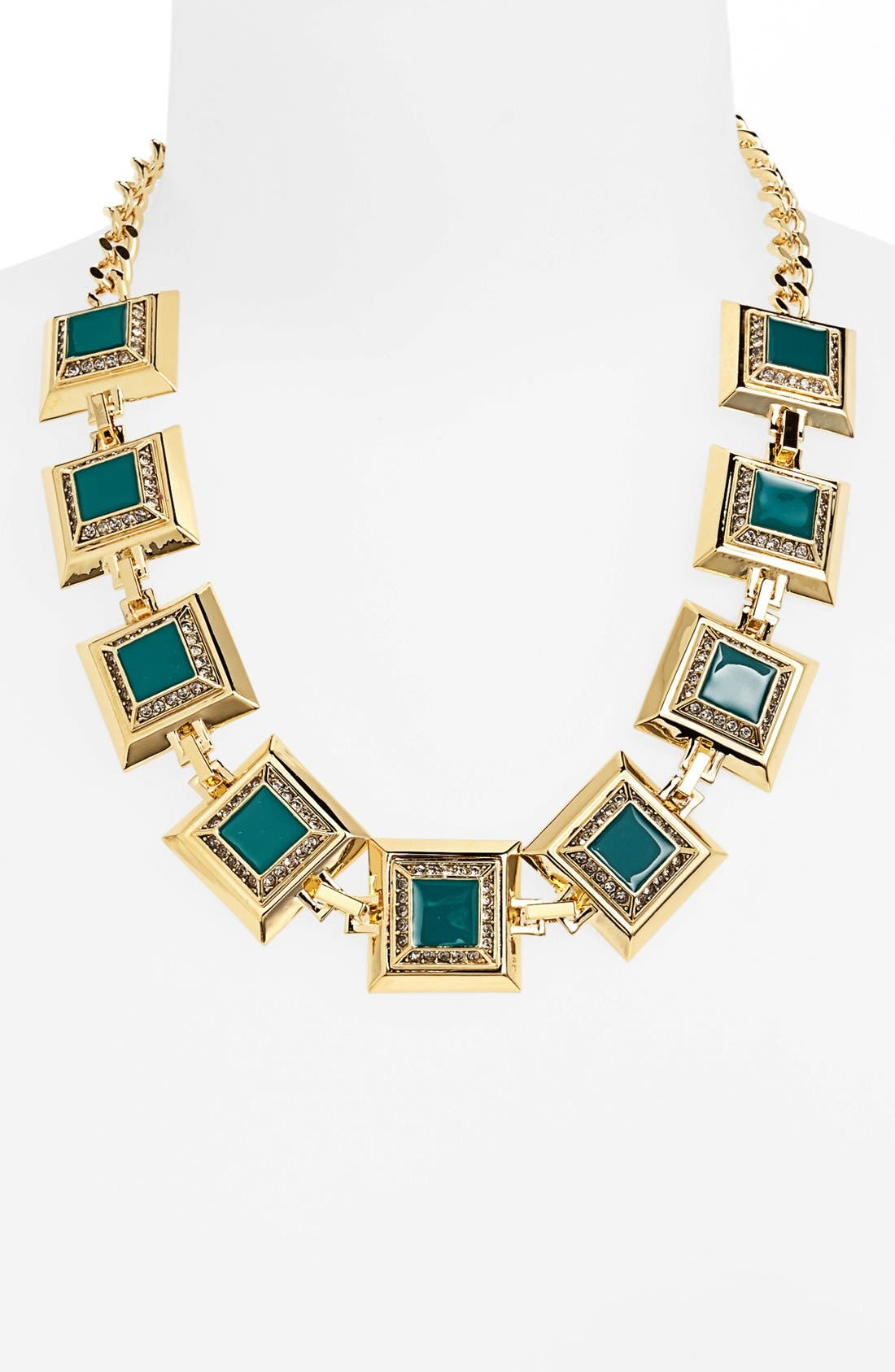 Alternate Image 1 Selected - St. John Collection Enamel & Swarovski Crystal Necklace