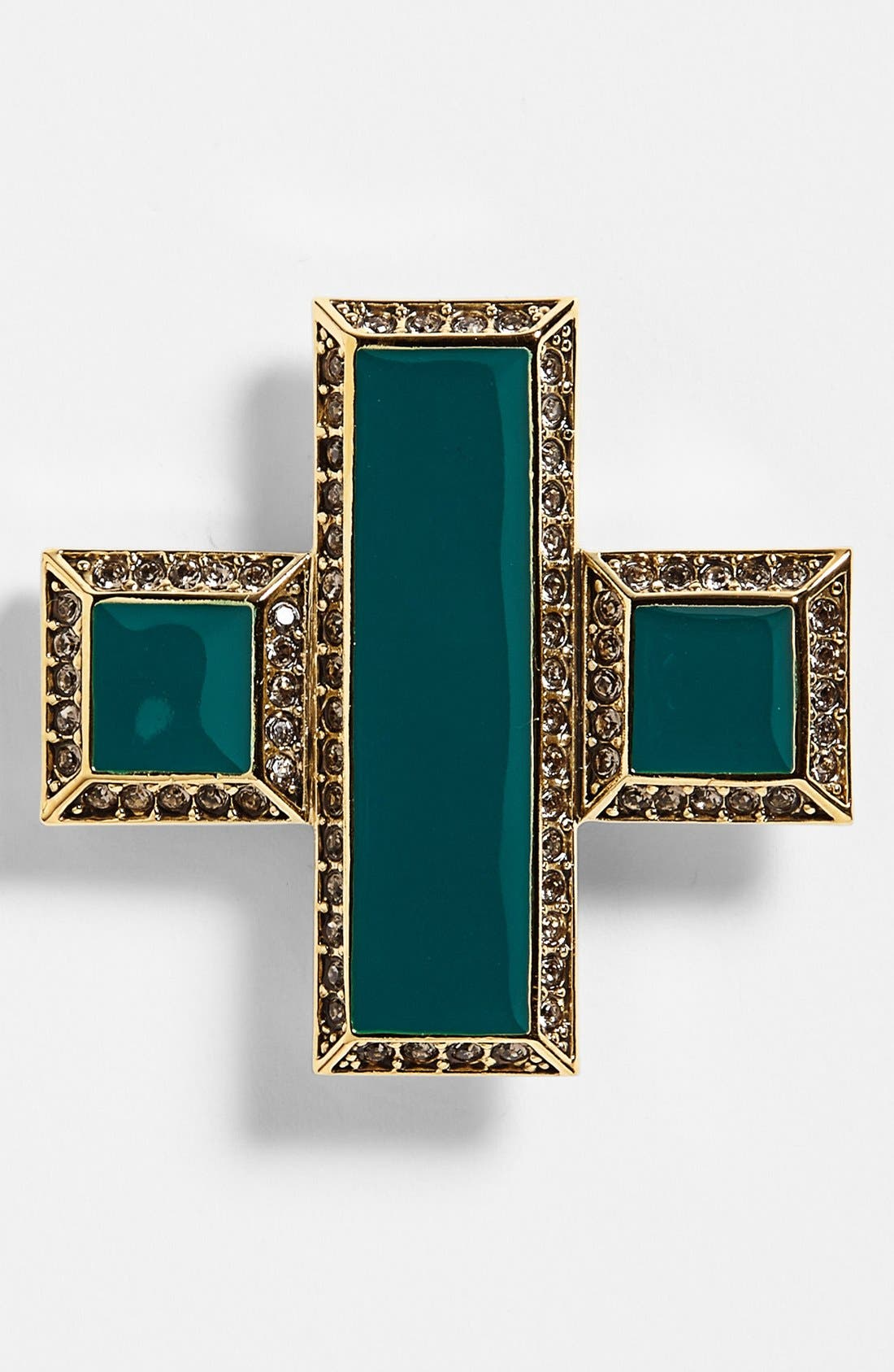 Alternate Image 1 Selected - St. John Collection Enamel & Swarovski Crystal Cross Pin