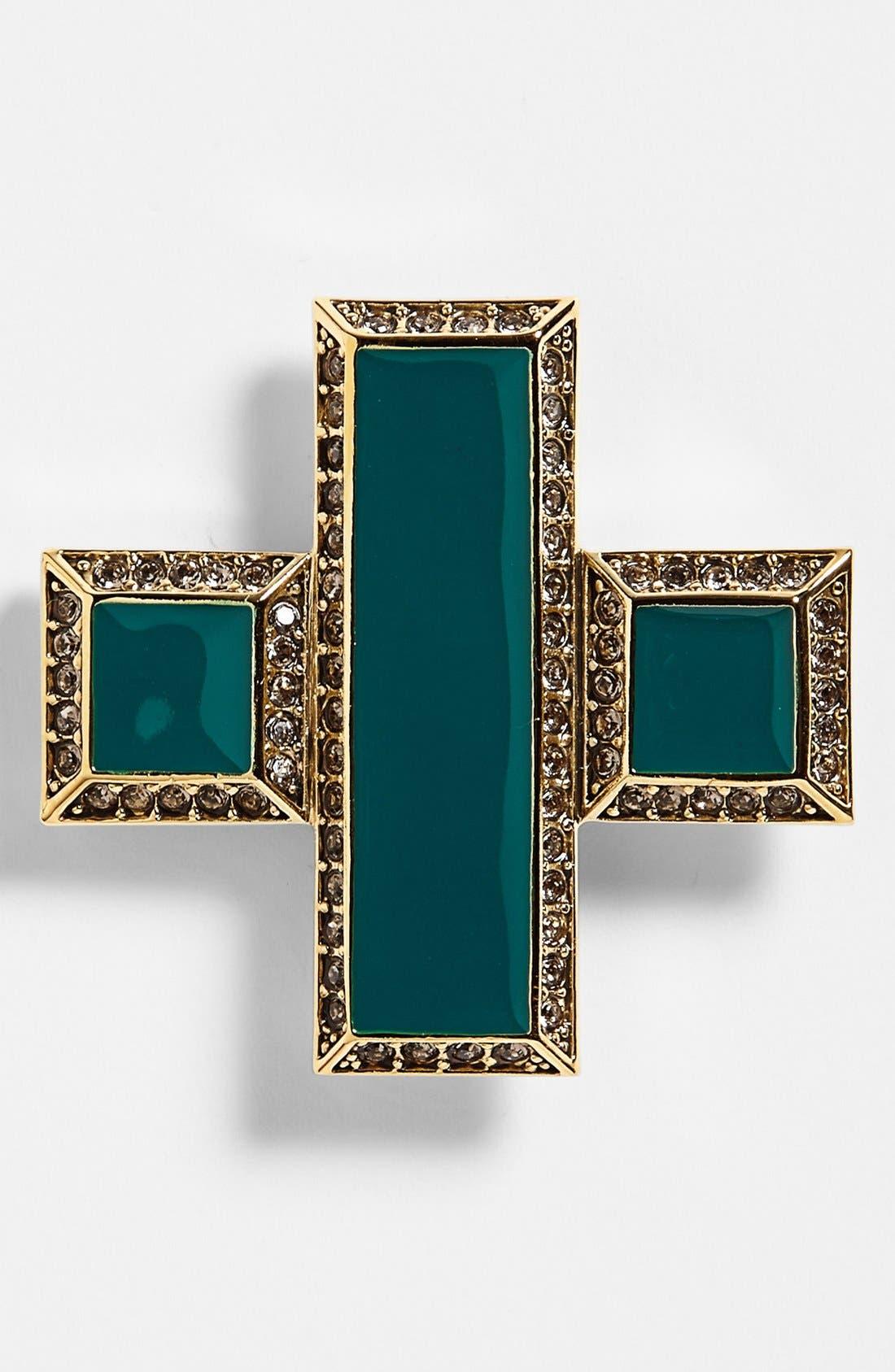 Main Image - St. John Collection Enamel & Swarovski Crystal Cross Pin