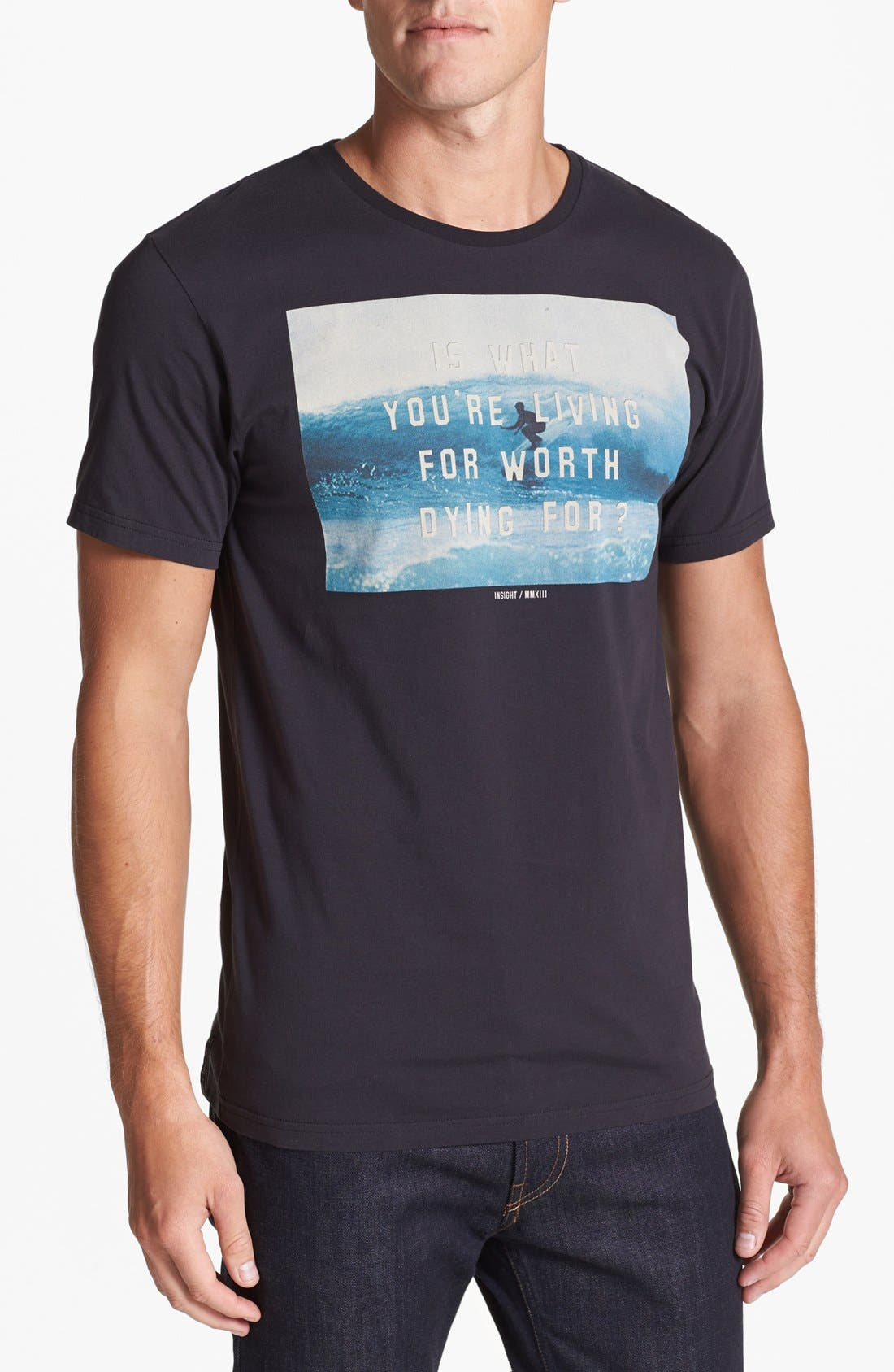 Alternate Image 1 Selected - Insight 'Worth Living' T-Shirt