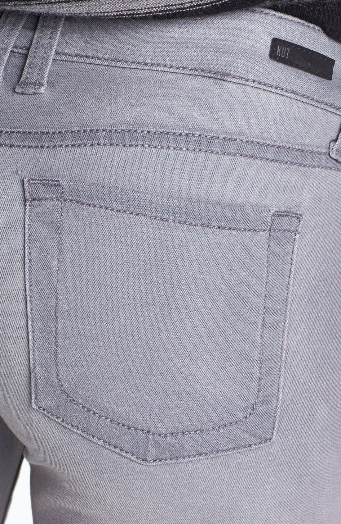 Alternate Image 3  - KUT from the Kloth 'Mia' Skinny Jeans (Grey)