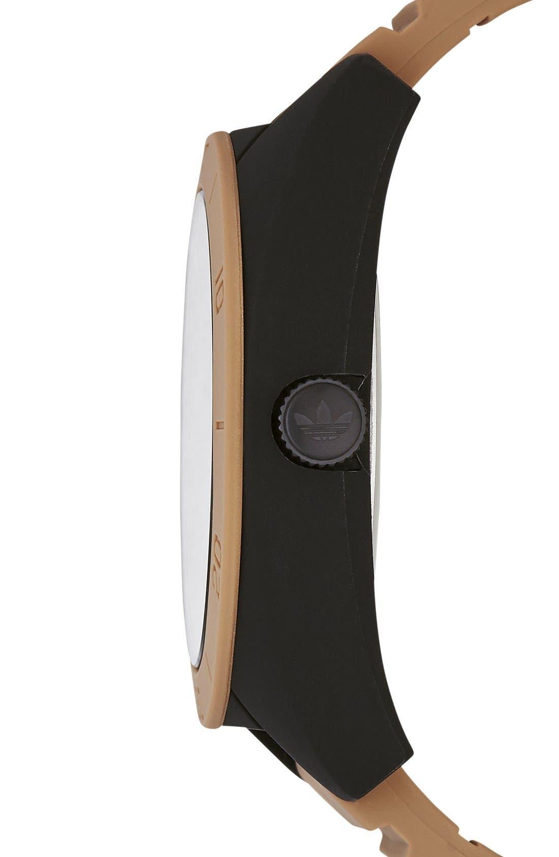 Alternate Image 3  - adidas Originals 'Santiago XL - Special Edition' Silicone Strap Watch, 50mm