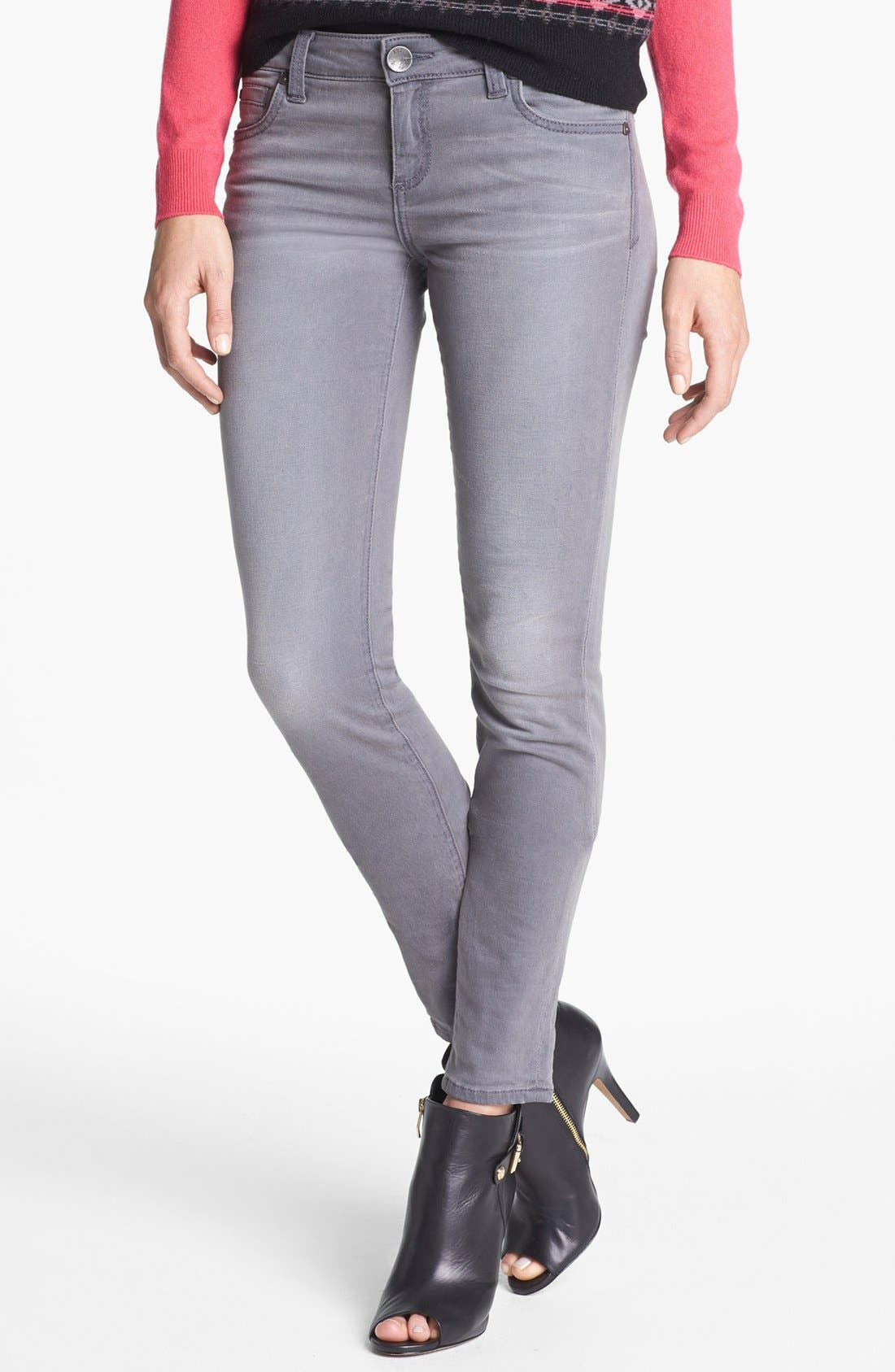 Alternate Image 1 Selected - KUT from the Kloth 'Mia' Skinny Jeans (Grey)
