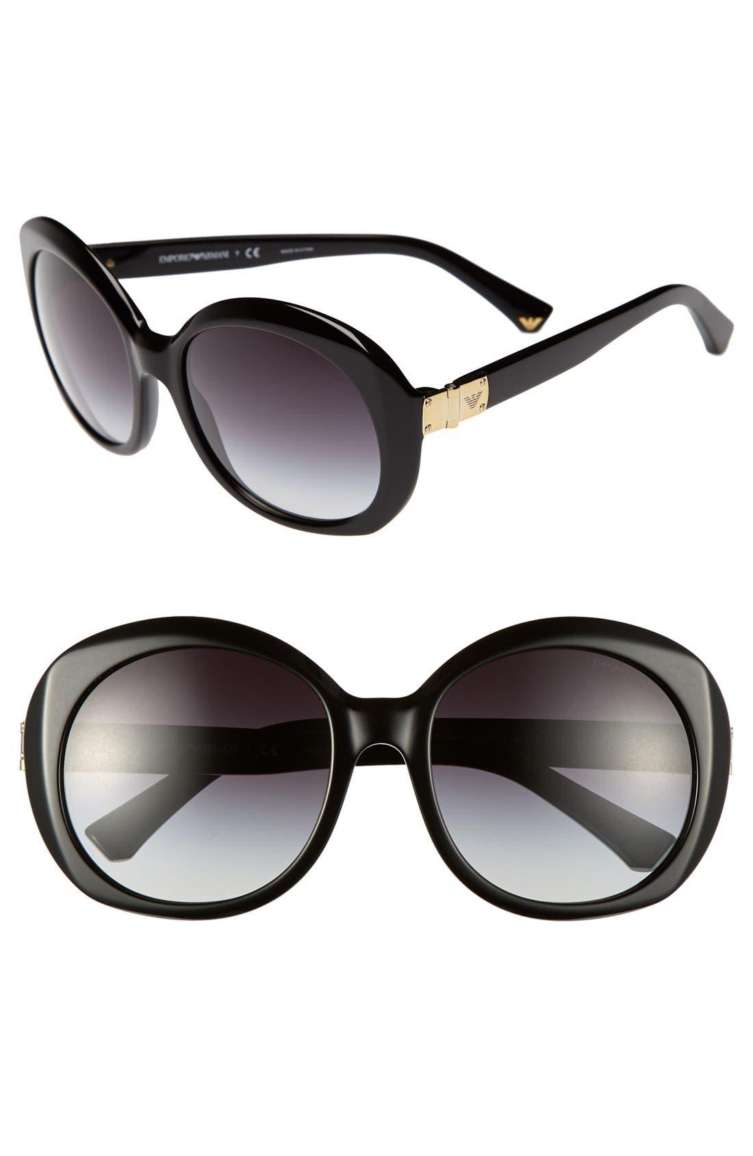 Alternate Image 1 Selected - Emporio Armani 56mm Sunglasses