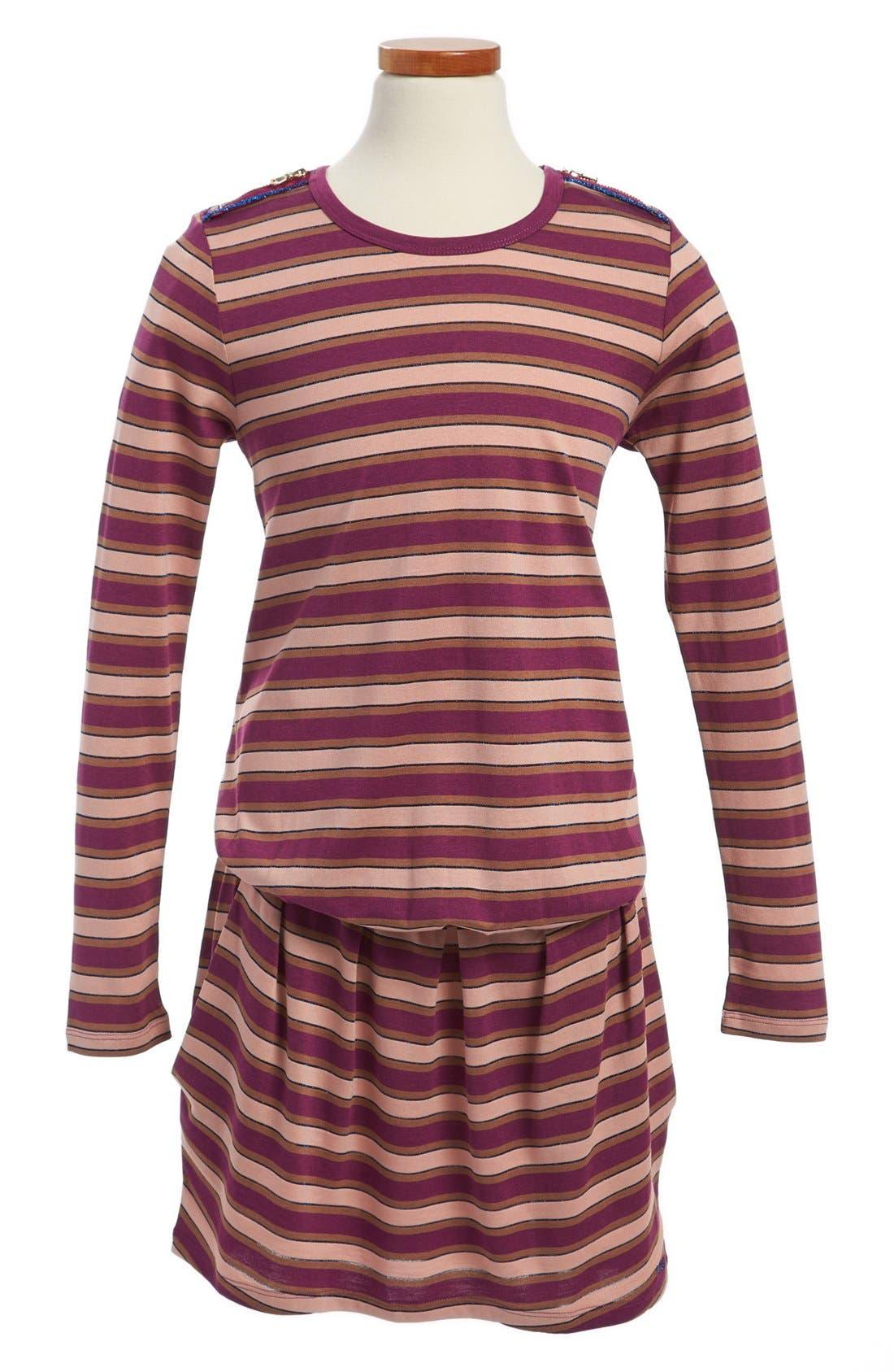 Alternate Image 1 Selected - LITTLE MARC JACOBS Long Sleeve Jersey Dress (Toddler Girls, Little Girls & Big Girls)