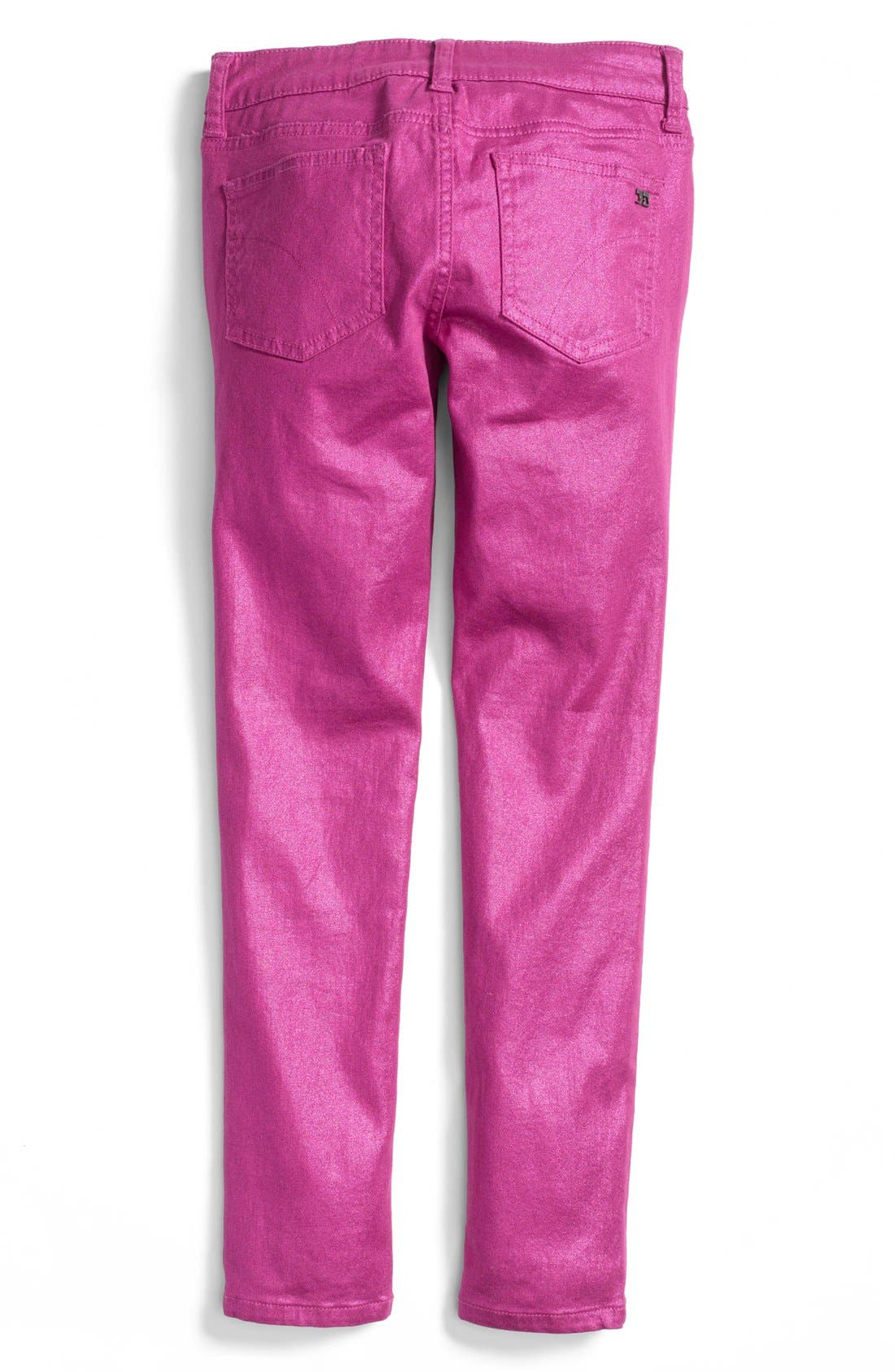 Alternate Image 1 Selected - Joe's Metallic Denim Jeggings (Big Girls)