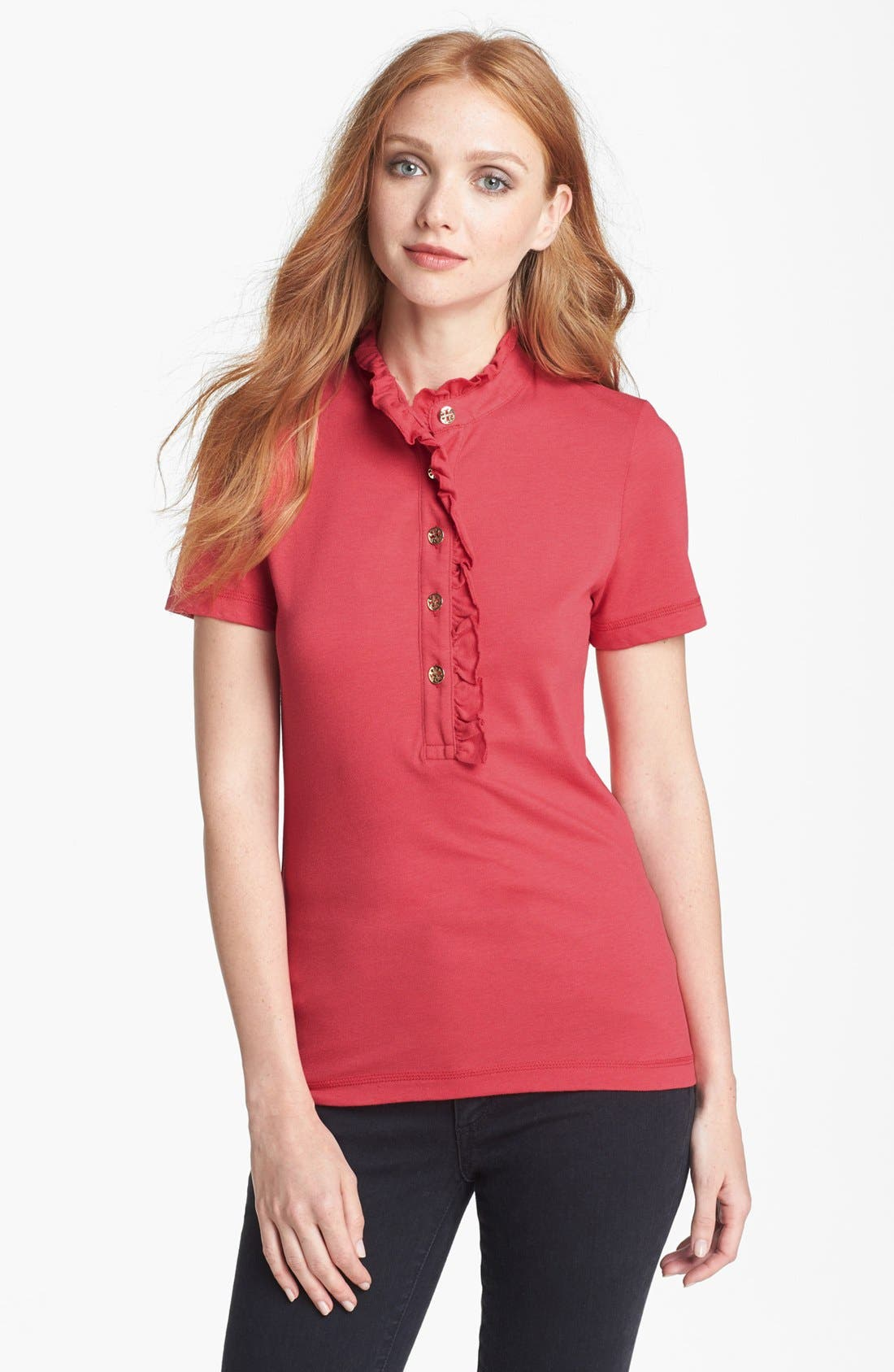 Main Image - Tory Burch 'Lidia' Short Sleeve Polo