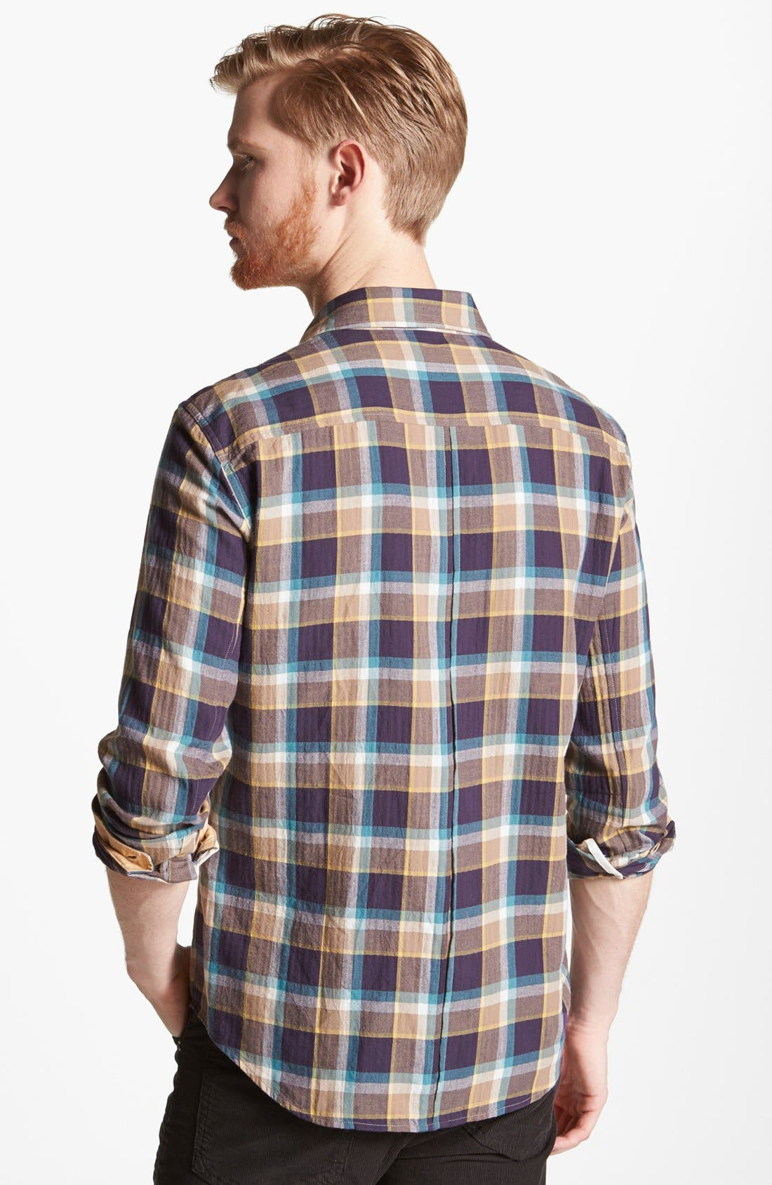 Alternate Image 2  - rag & bone 'Yokohama' Herringbone Plaid Woven Shirt