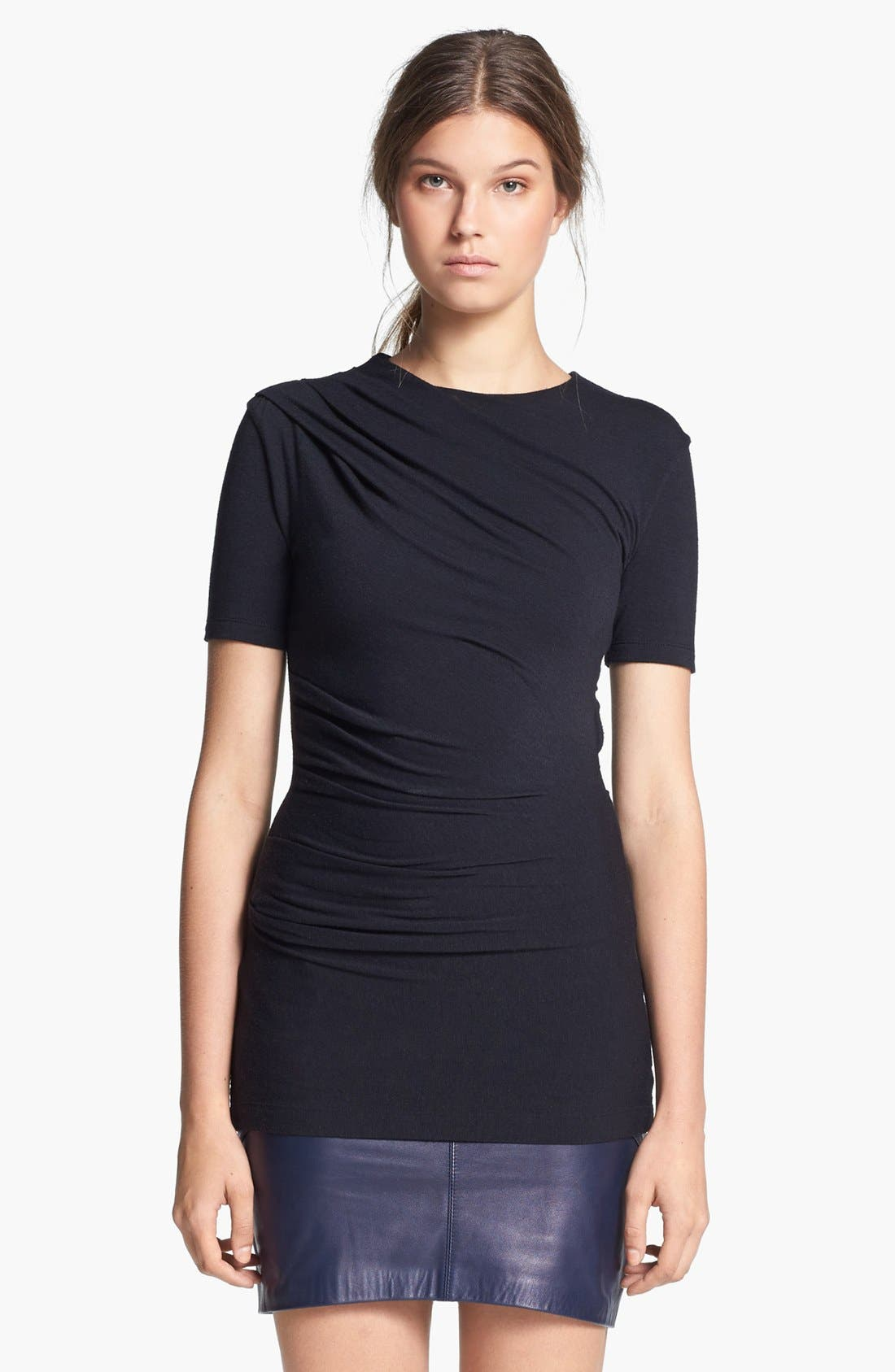 Alternate Image 1 Selected - T by Alexander Wang Gathered Jersey Top