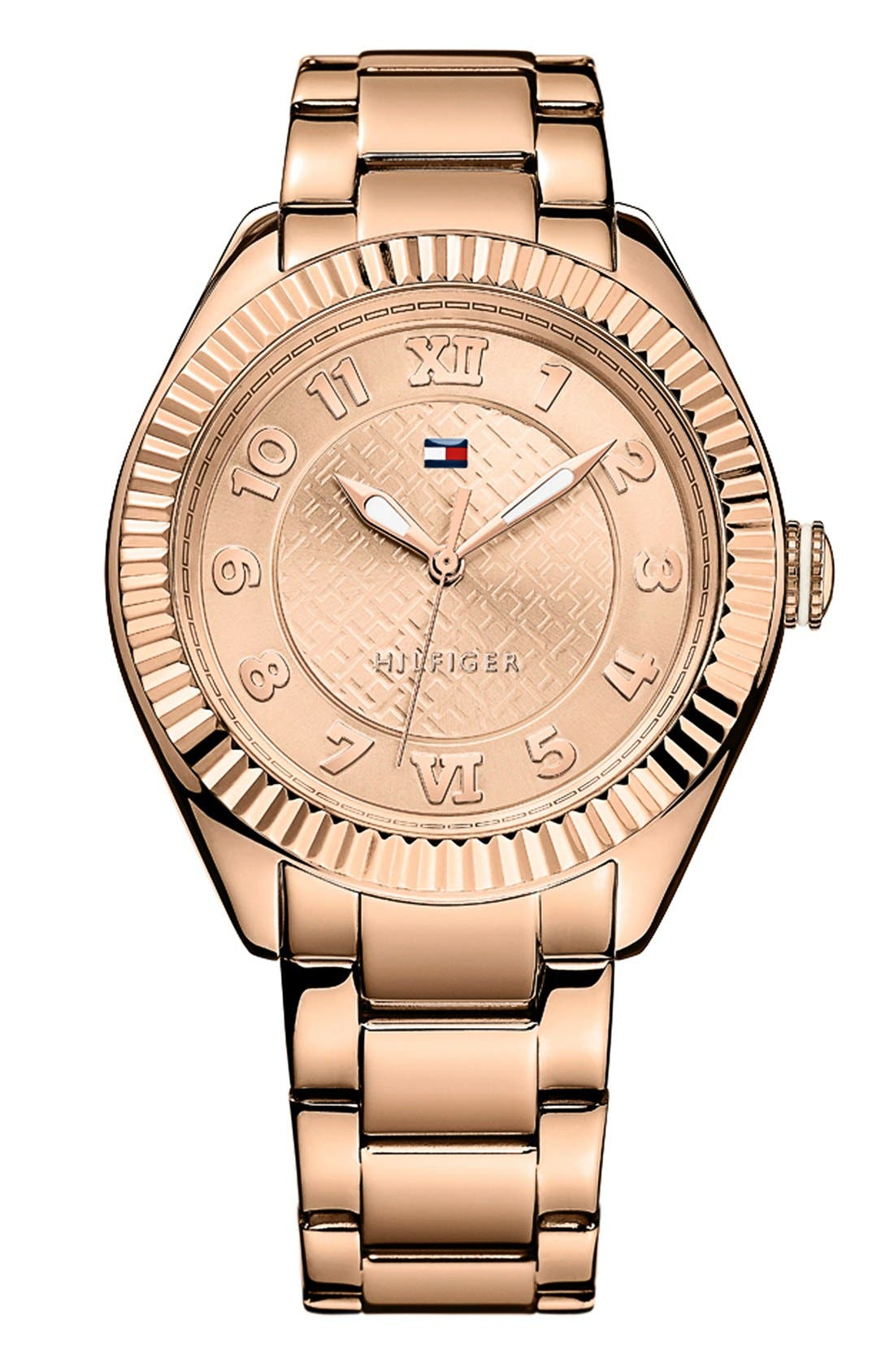 Main Image - Tommy Hilfiger Round Bracelet Watch, 41mm