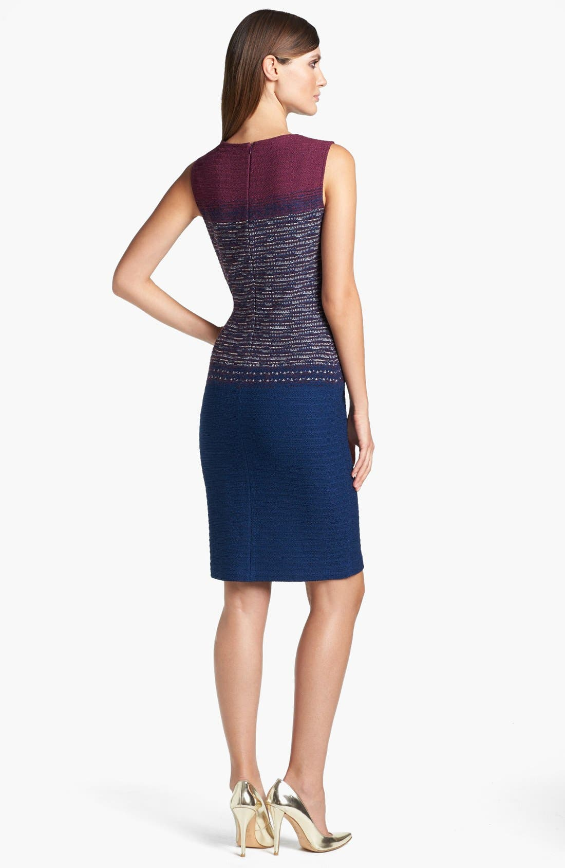 Alternate Image 2  - St. John Collection Space Dyed Tweed Sheath Dress