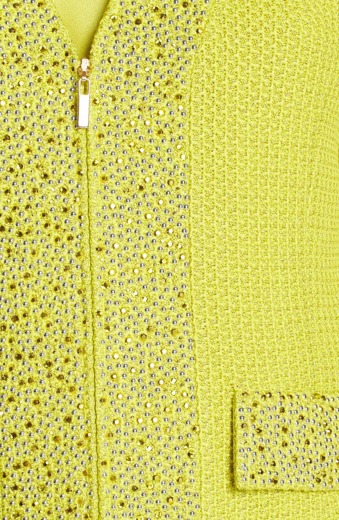 Alternate Image 5  - St. John Collection Metallic Lattice Knit Jacket