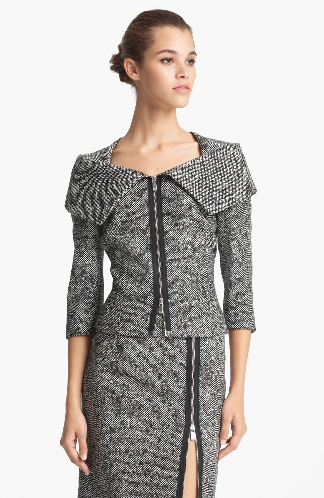 Alternate Image 1 Selected - Michael Kors Origami Collar Tweed Jacket