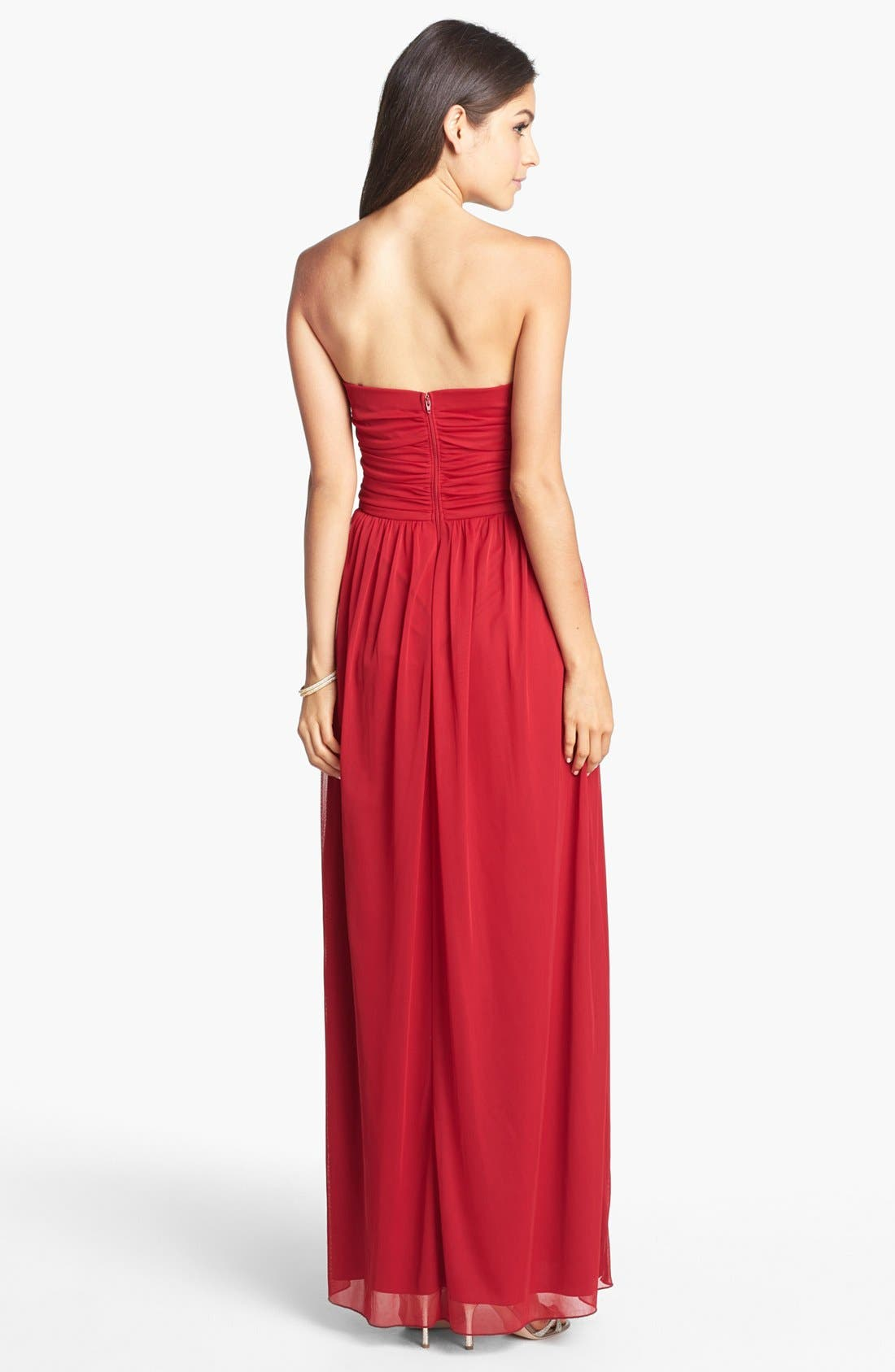 Alternate Image 2  - Way-In Embellished Strapless Gown (Juniors) (Online Only)