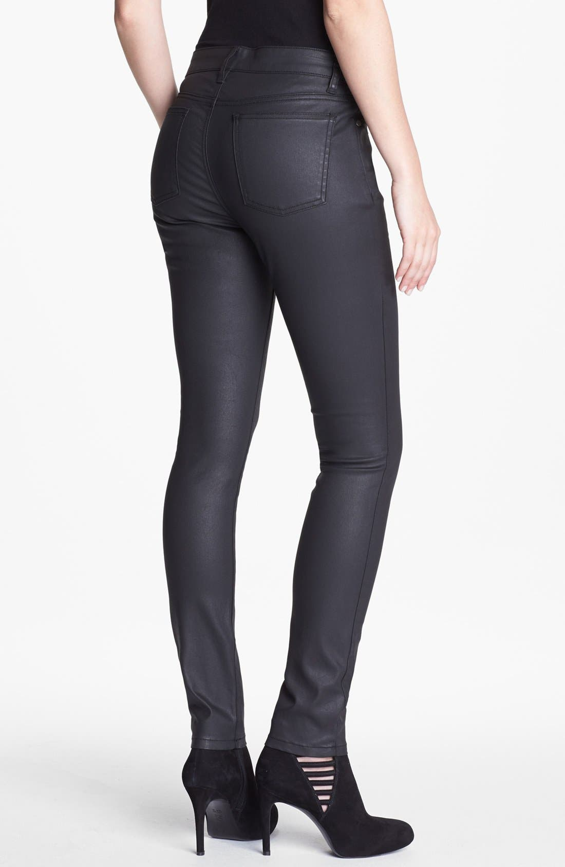 Alternate Image 2  - Eileen Fisher Waxed Denim Skinny Jeans