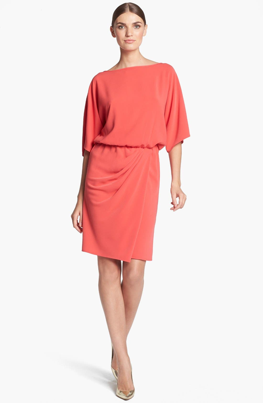 Alternate Image 1 Selected - St. John Collection Kimono Sleeve Luxe Crepe Dress