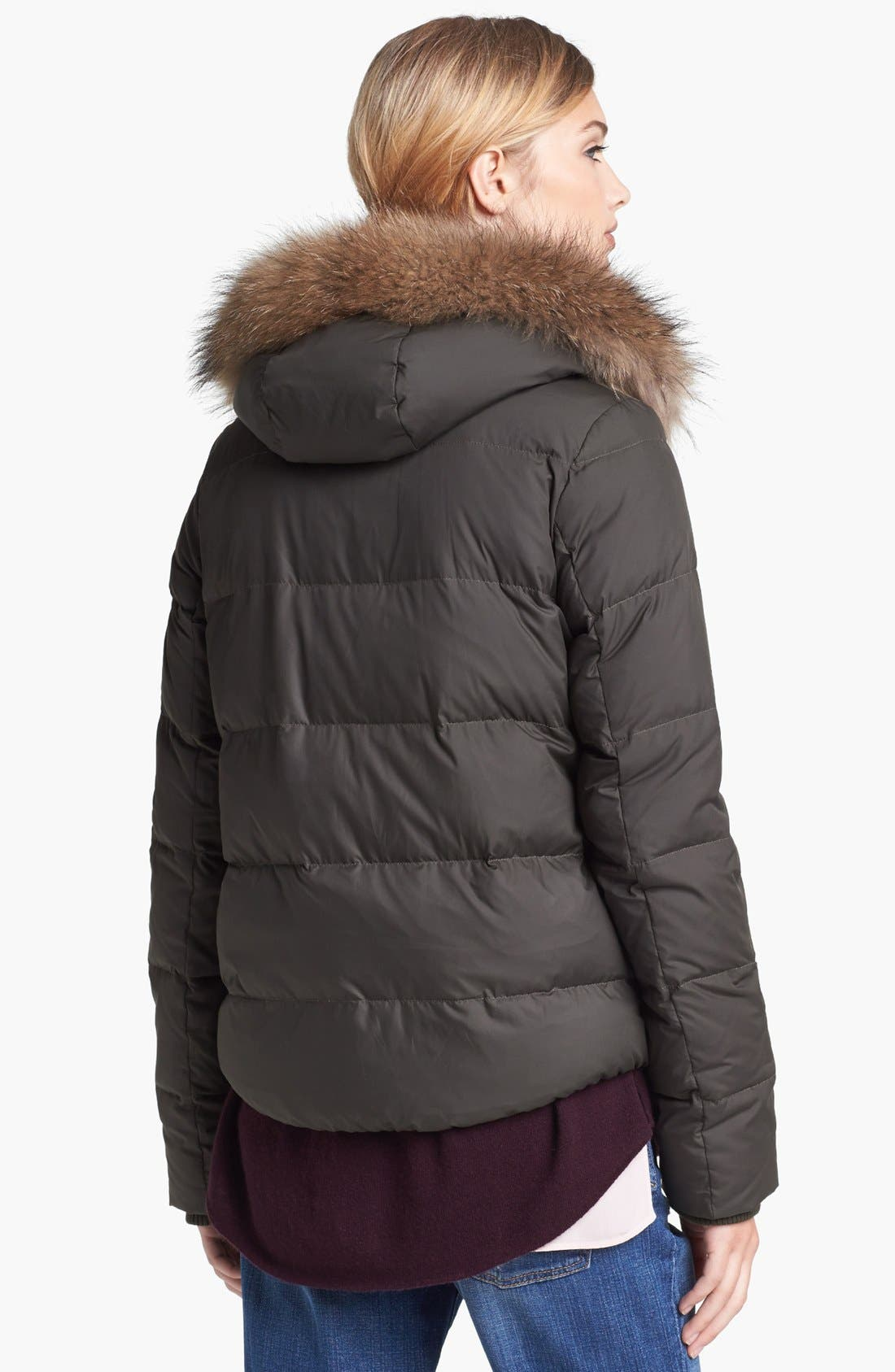 Alternate Image 2  - Vince Genuine Raccoon Fur Trim Puffer Jacket