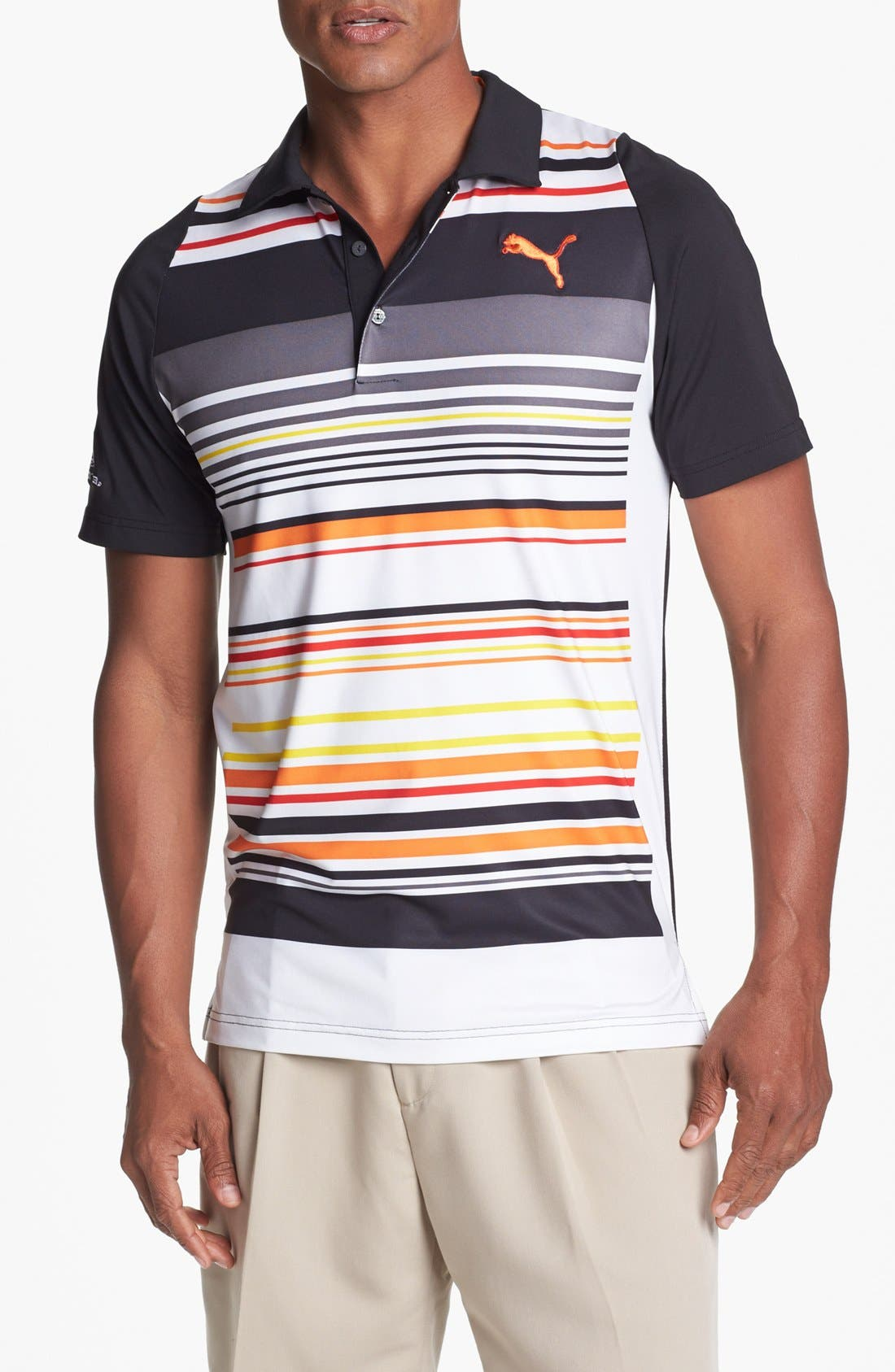 Alternate Image 1 Selected - PUMA GOLF 'Duo-Swing' Stripe Polo