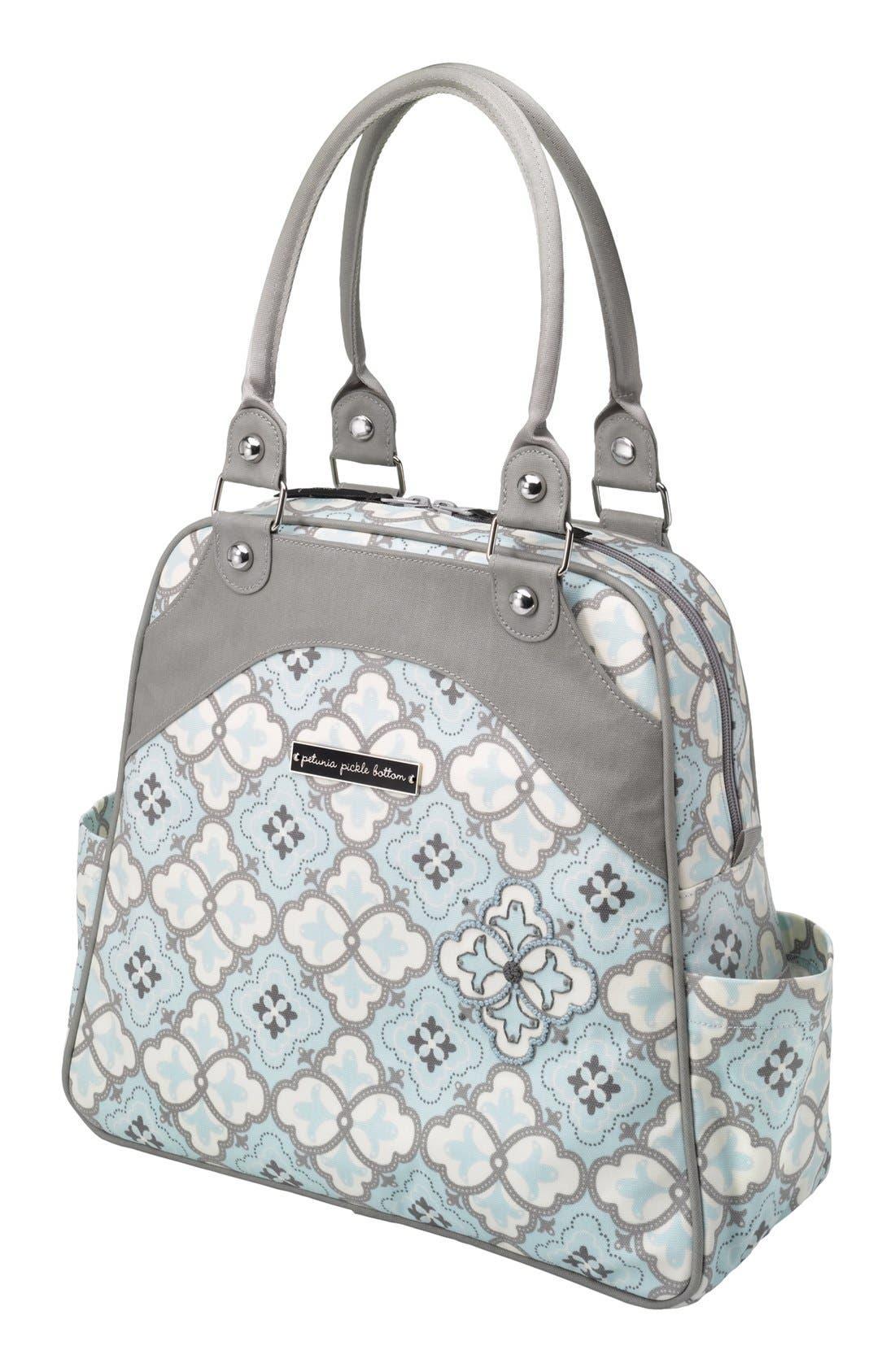 Alternate Image 1 Selected - Petunia Pickle Bottom 'Sashay Satchel' Glazed Diaper Bag