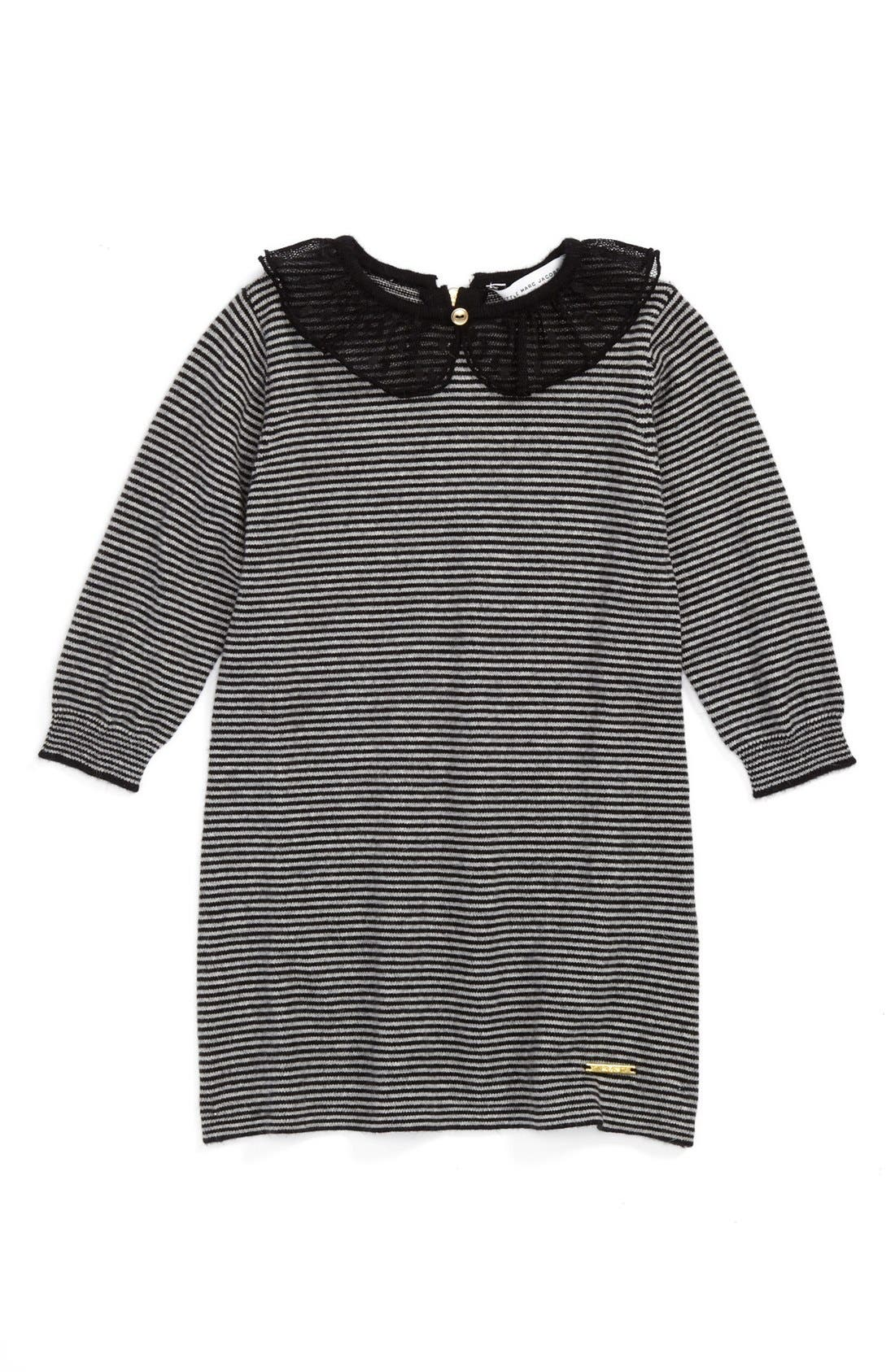 Alternate Image 1 Selected - LITTLE MARC JACOBS Long Sleeve Dress (Baby Girls)