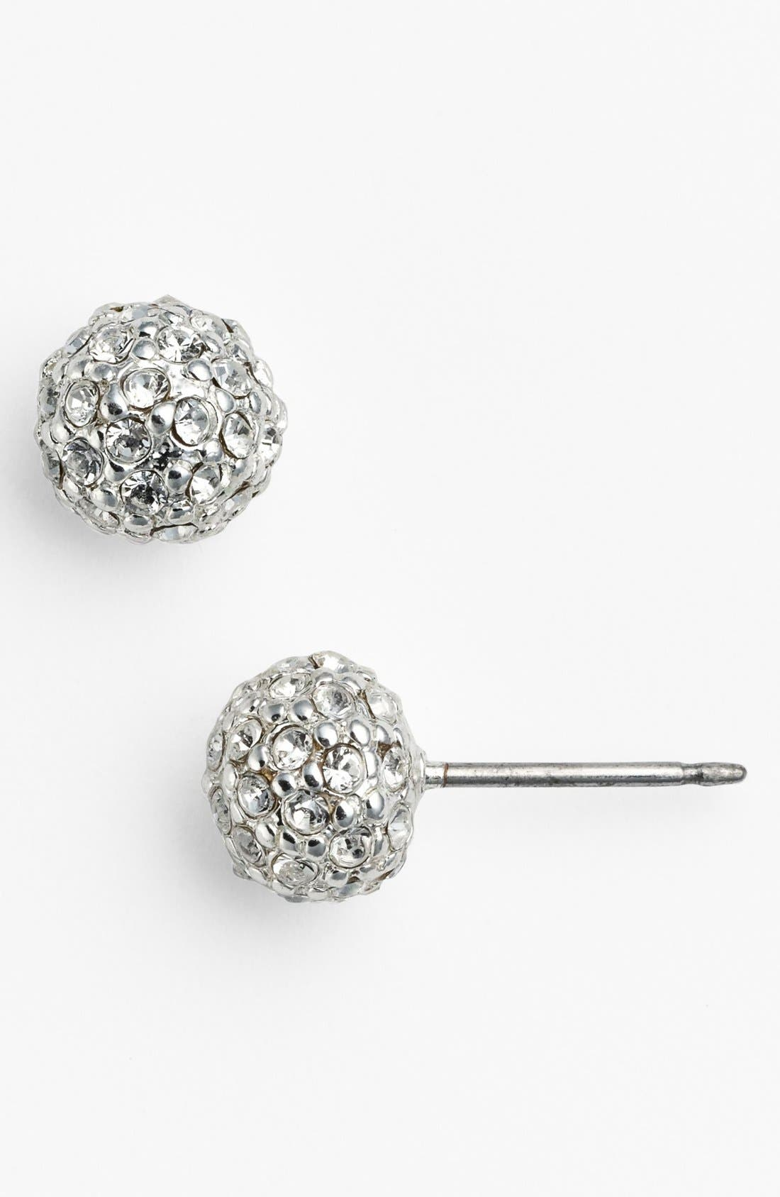 Alternate Image 1 Selected - Lauren Ralph Lauren Pavé Crystal Stud Earrings