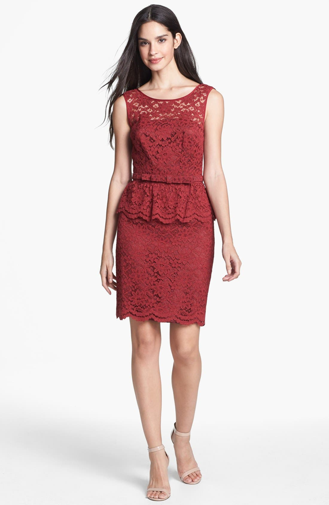 Alternate Image 1 Selected - Trina Turk 'Laural' Lace Peplum Dress