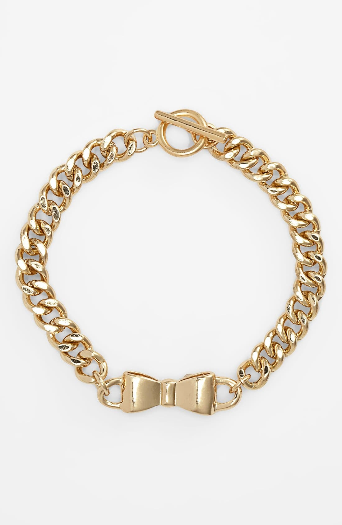 Alternate Image 1 Selected - BP. Bow Chain Bracelet (Juniors)