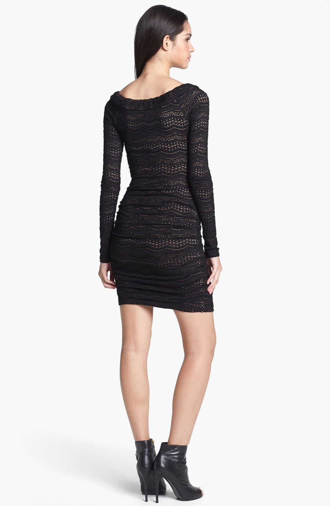 Alternate Image 2  - BCBGMAXAZRIA Lace Body-Con Dress