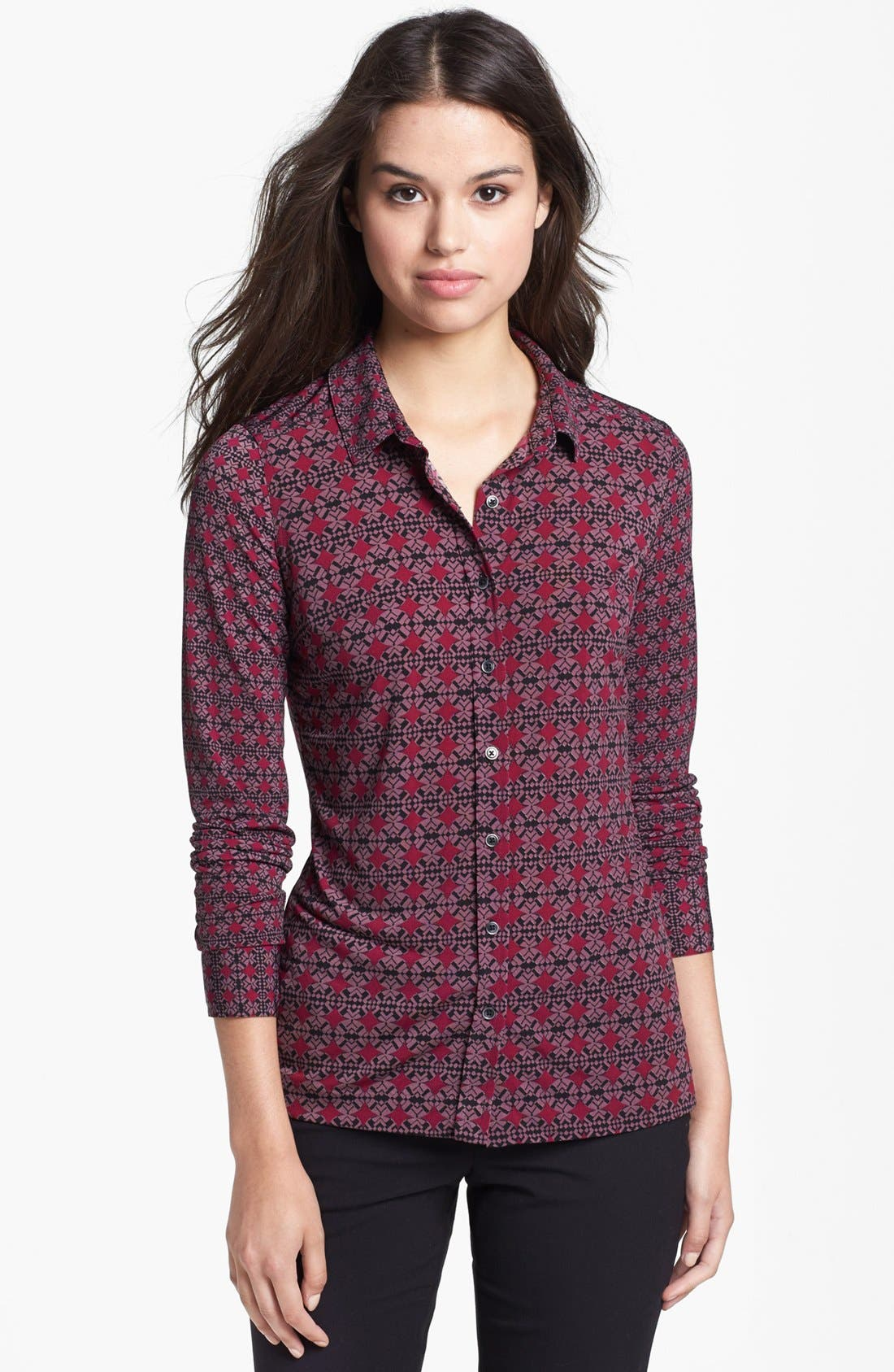 Alternate Image 1 Selected - Halogen® Button Front Knit Blouse