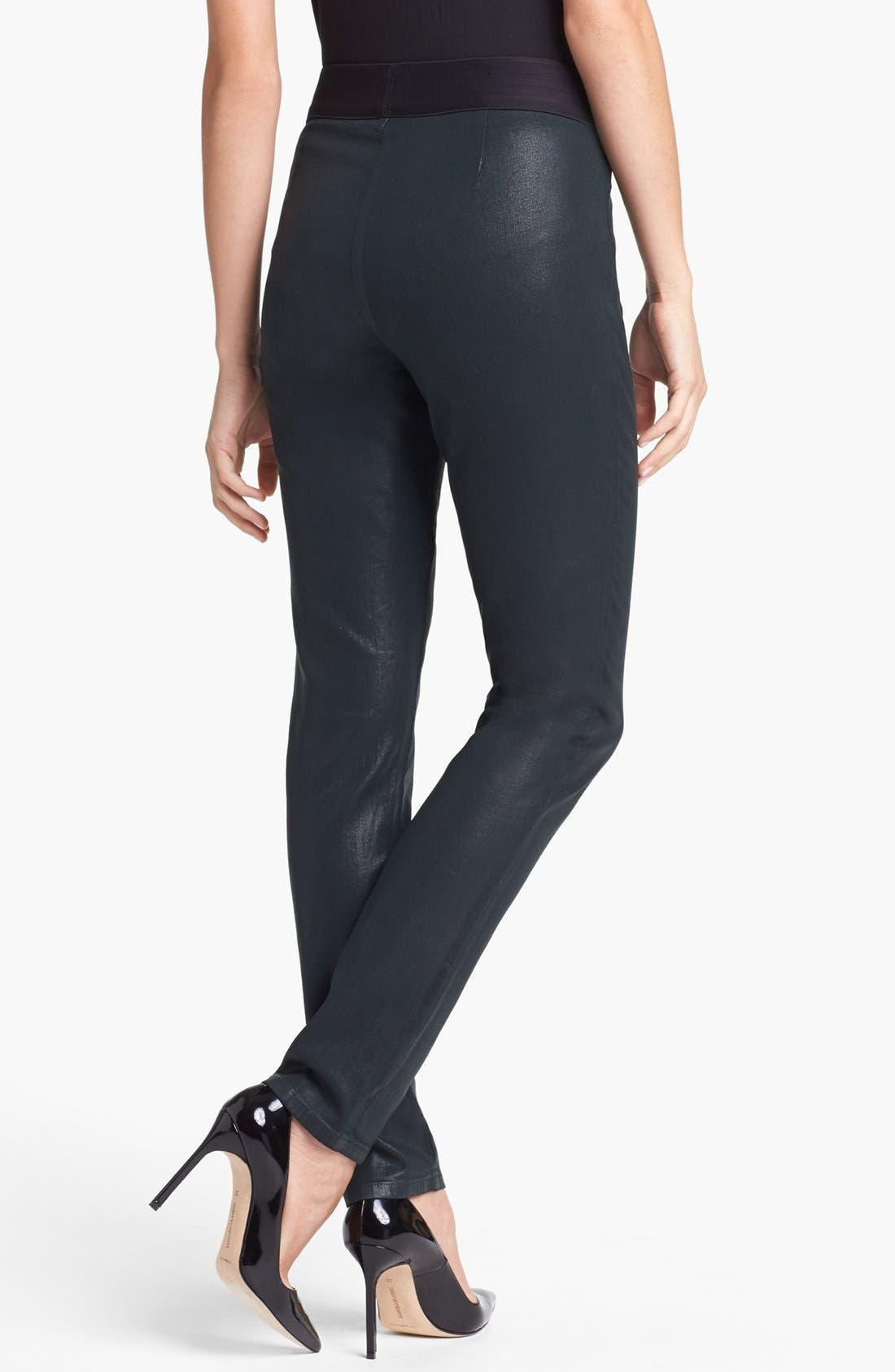 Alternate Image 2  - NYDJ 'Gia' Coated Stretch Pull-On Pants