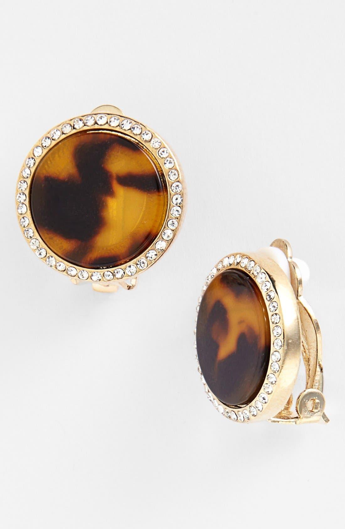 Alternate Image 1 Selected - Lauren Ralph Lauren Large Oval Clip Earrings