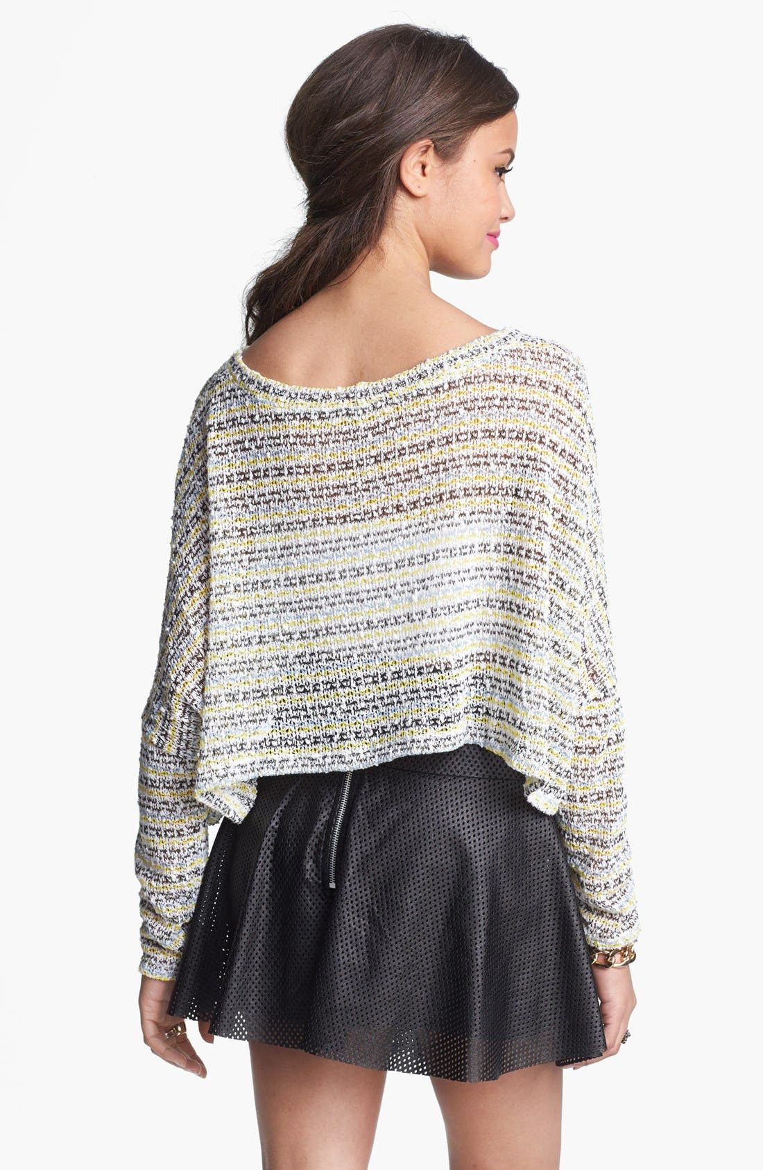 Alternate Image 3  - Painted Threads Swing Crop Sweater (Juniors)