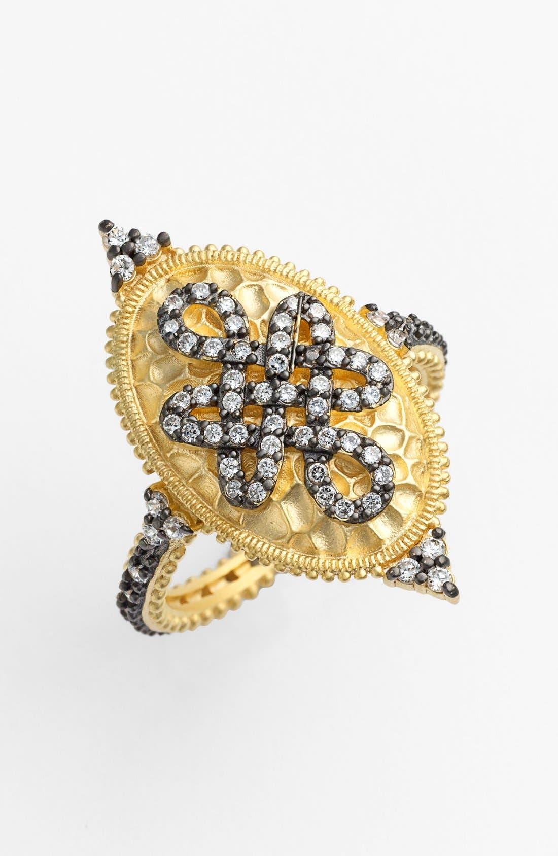 Main Image - FREIDA ROTHMAN 'Gramercy' Love Knot Oval Shield Ring