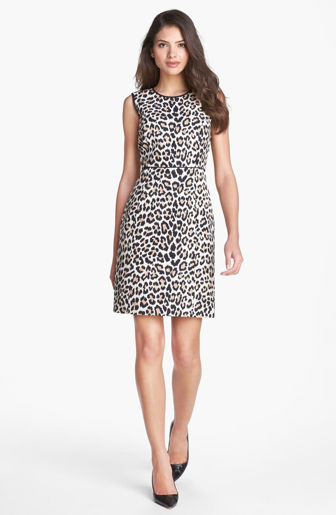 Alternate Image 1 Selected - kate spade new york 'paulina' cotton & silk a-line dress